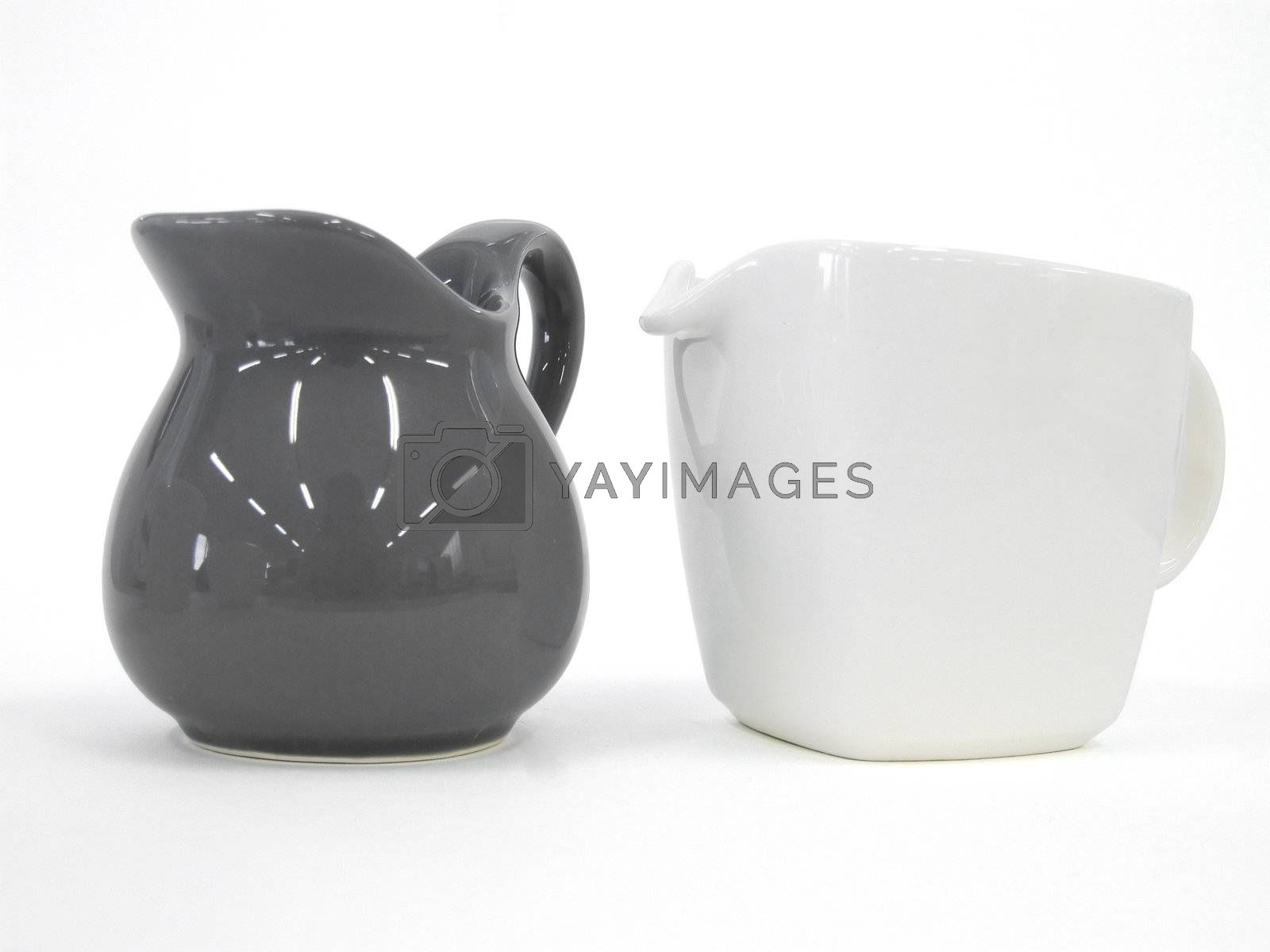 Teapot and Milk Pot isolated  by PauloResende