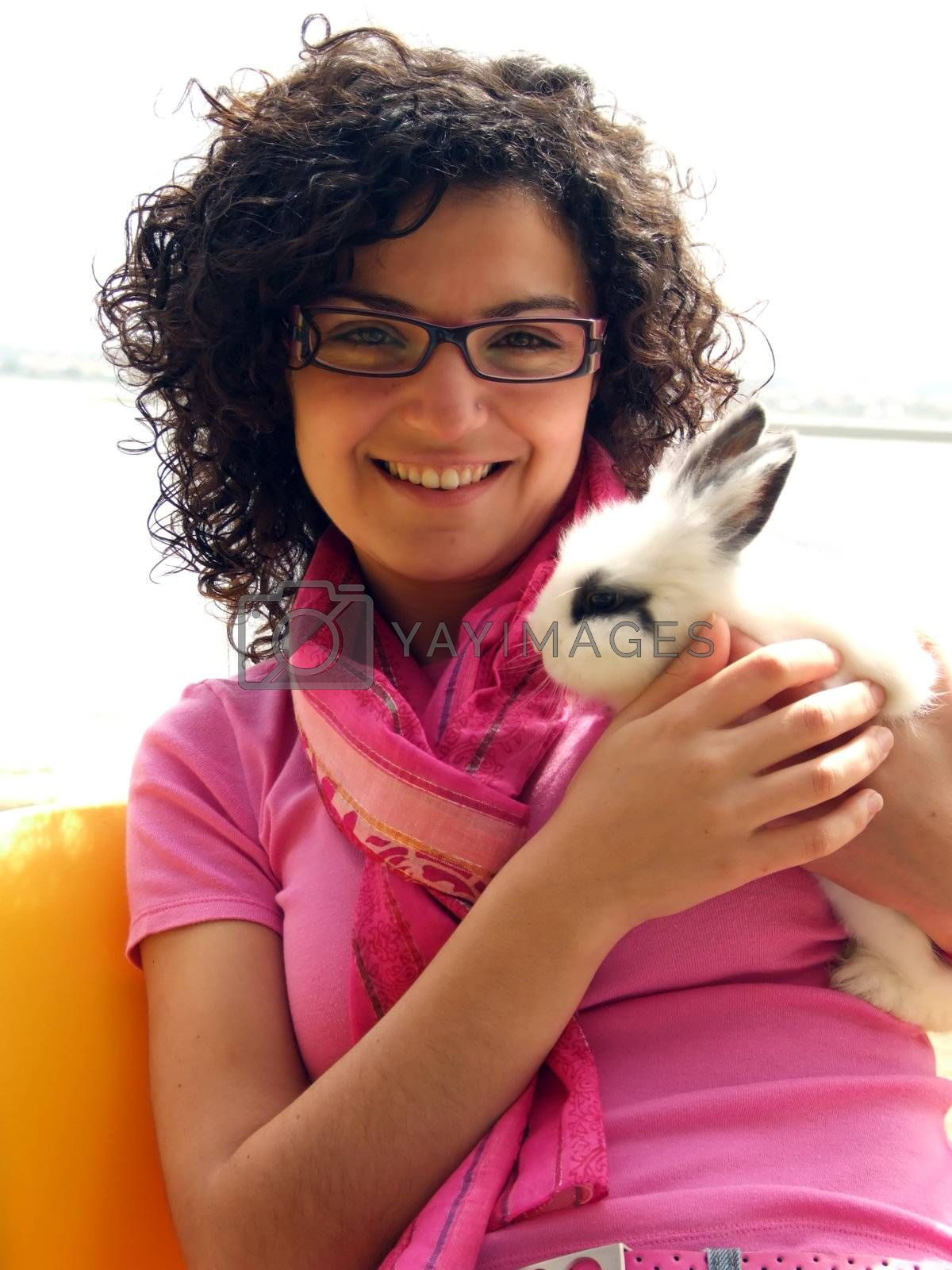 Girl with bunny by PauloResende