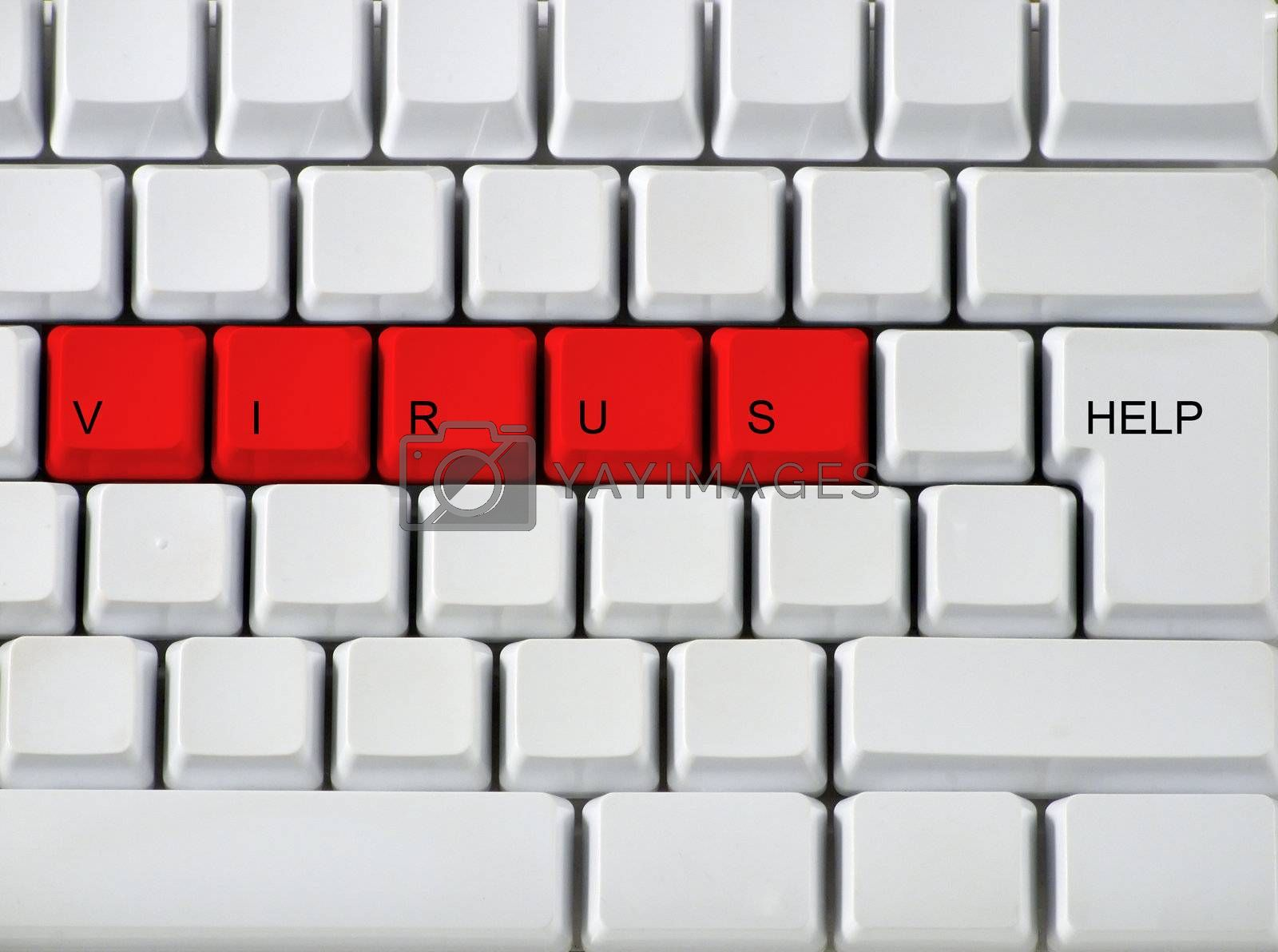 Concept from the virus on a keyboard by PauloResende