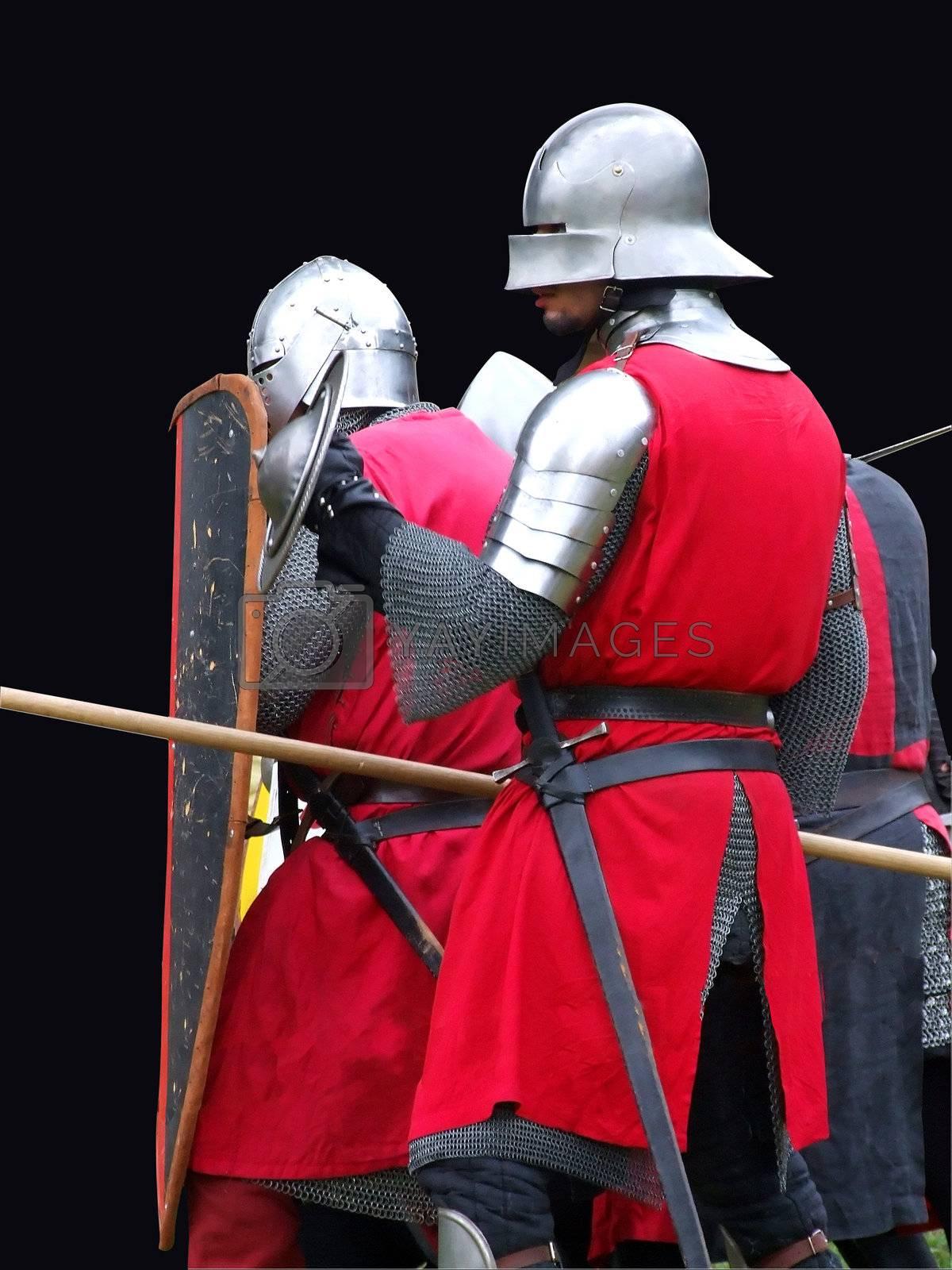 Medieval soldiers in battle by PauloResende