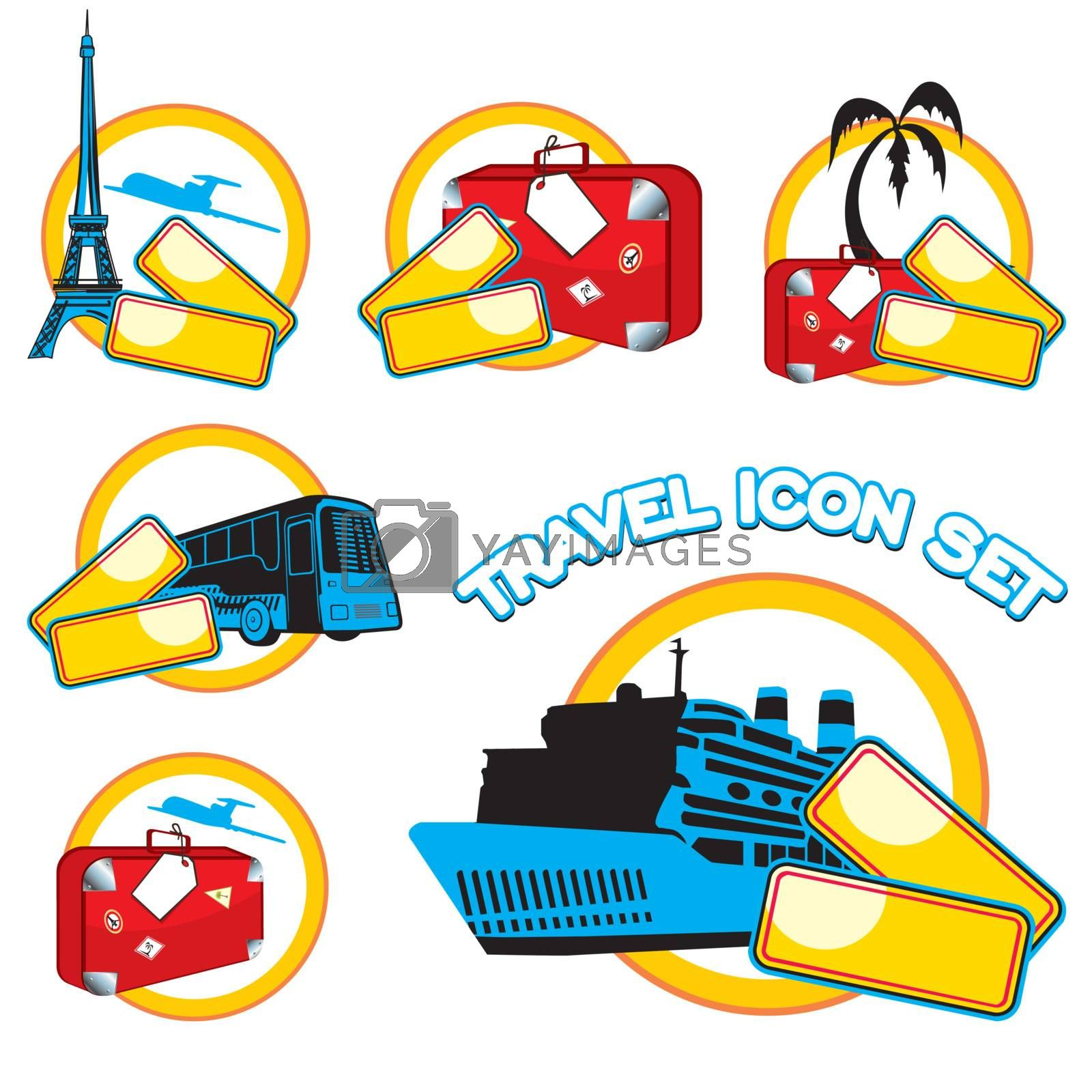 Travel icon set, vector illustration