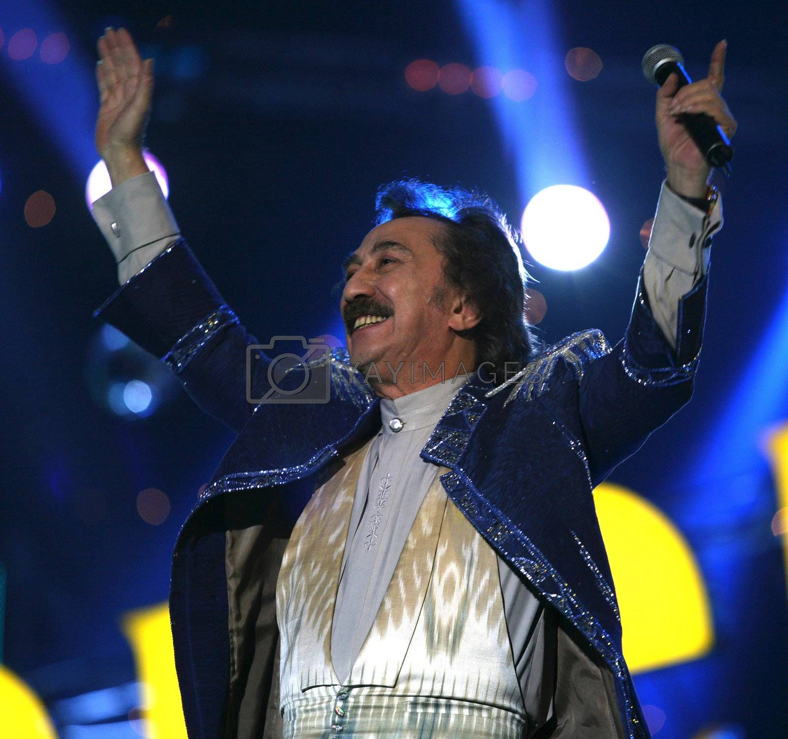 Russian singer Farukh Zakirov by friday