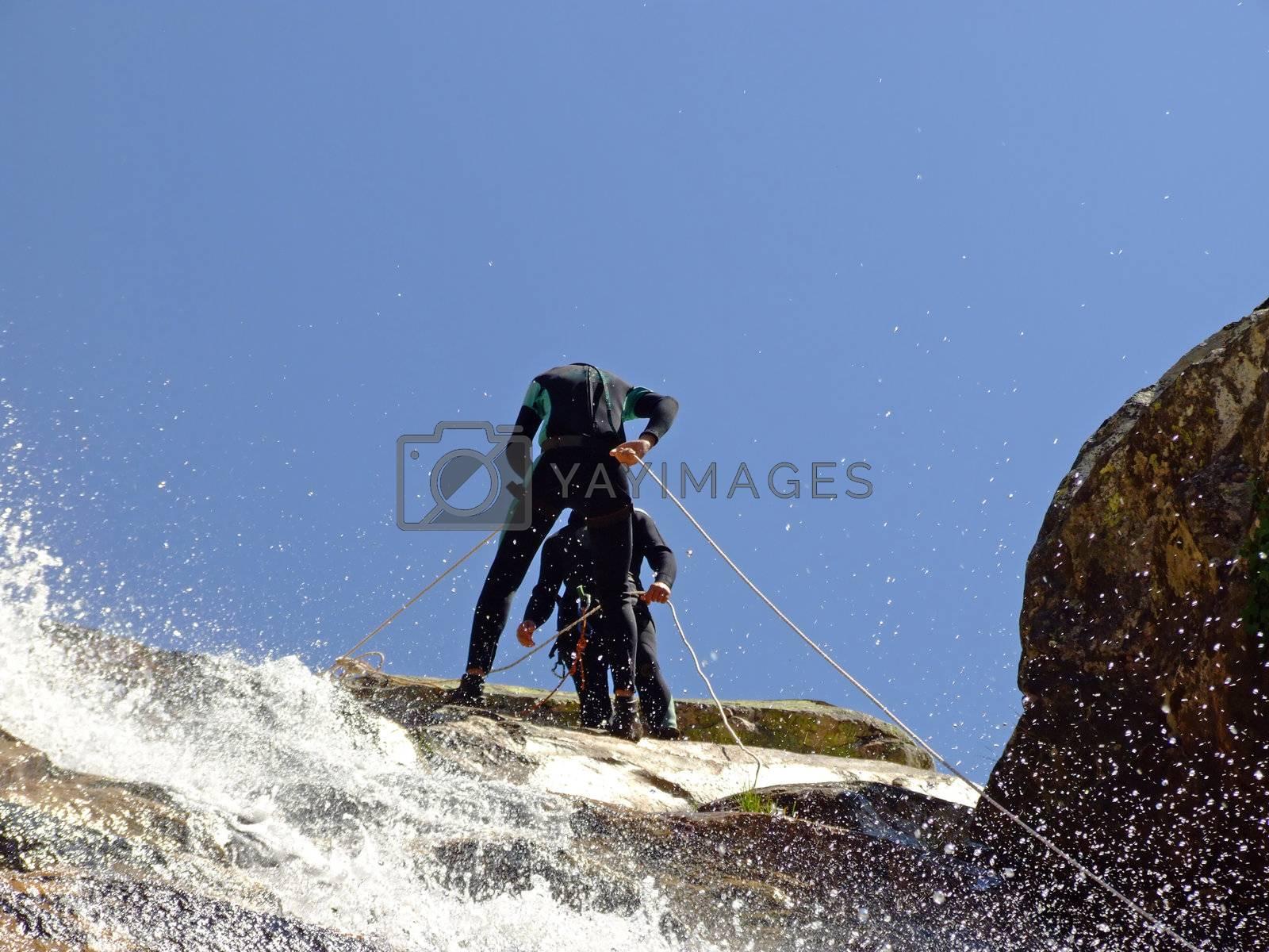 Men preparing to descend by PauloResende