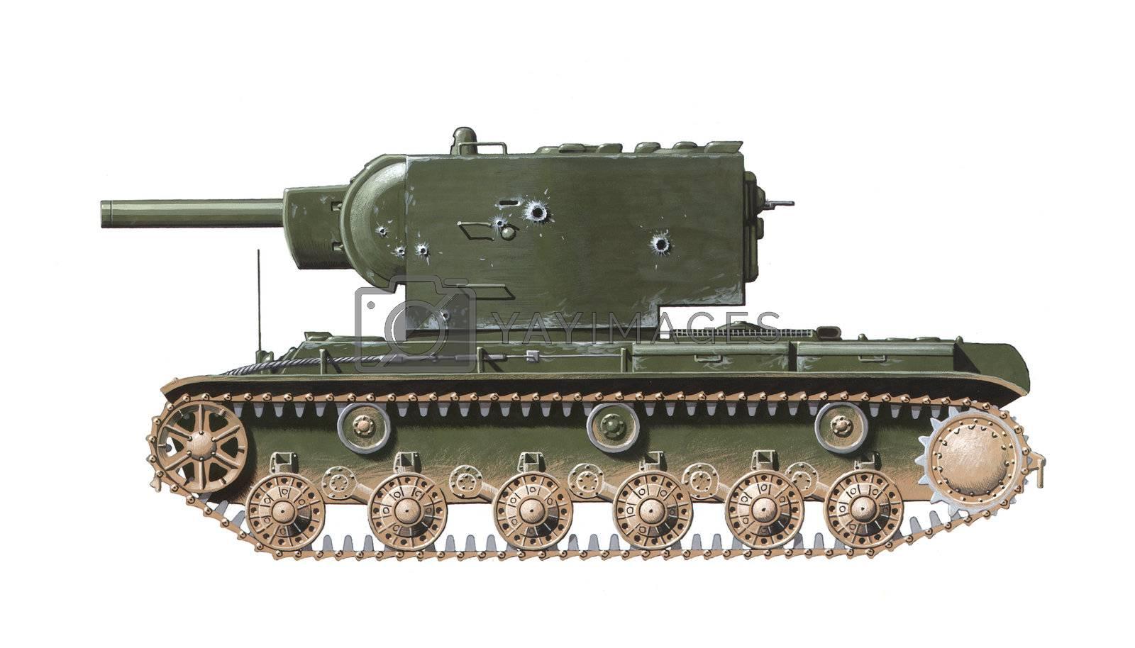 KV-2 heavy tank by martinspurny