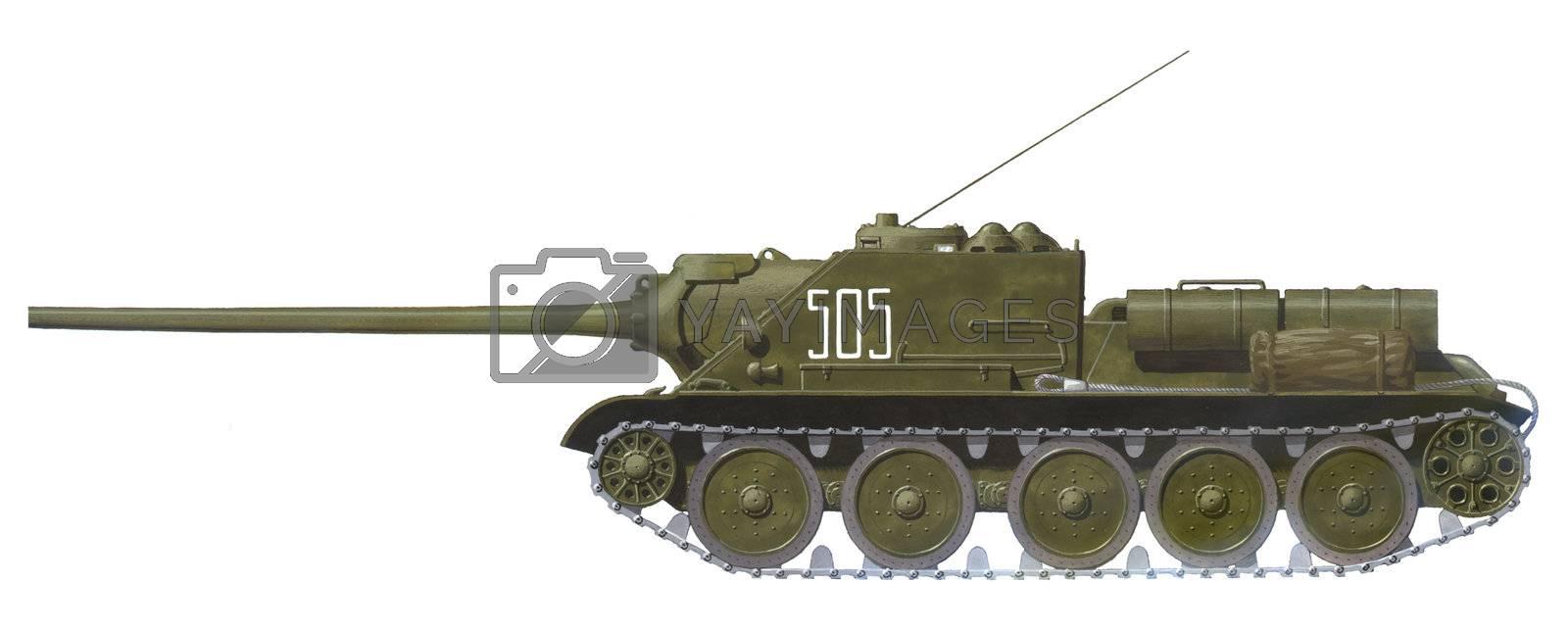 SU-100 tank destroyer by martinspurny