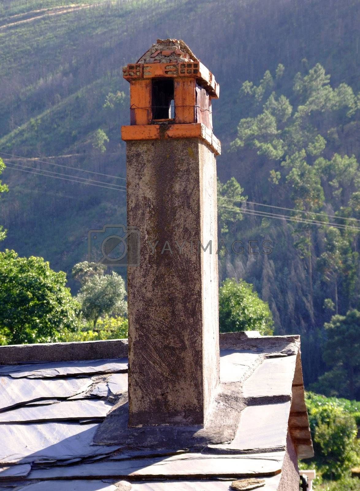 Old rustic chimney by PauloResende