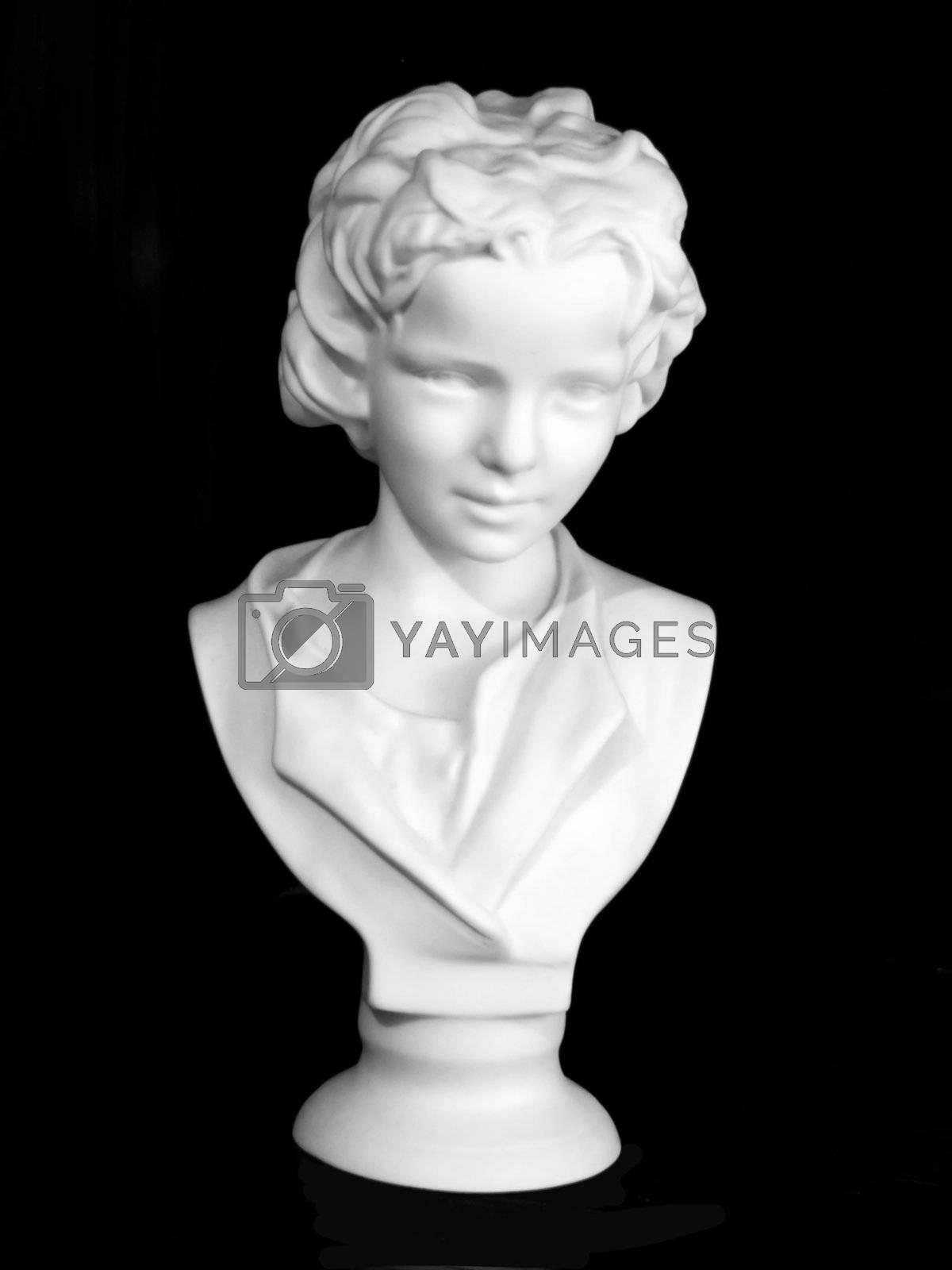 Porcelain head on black background by PauloResende
