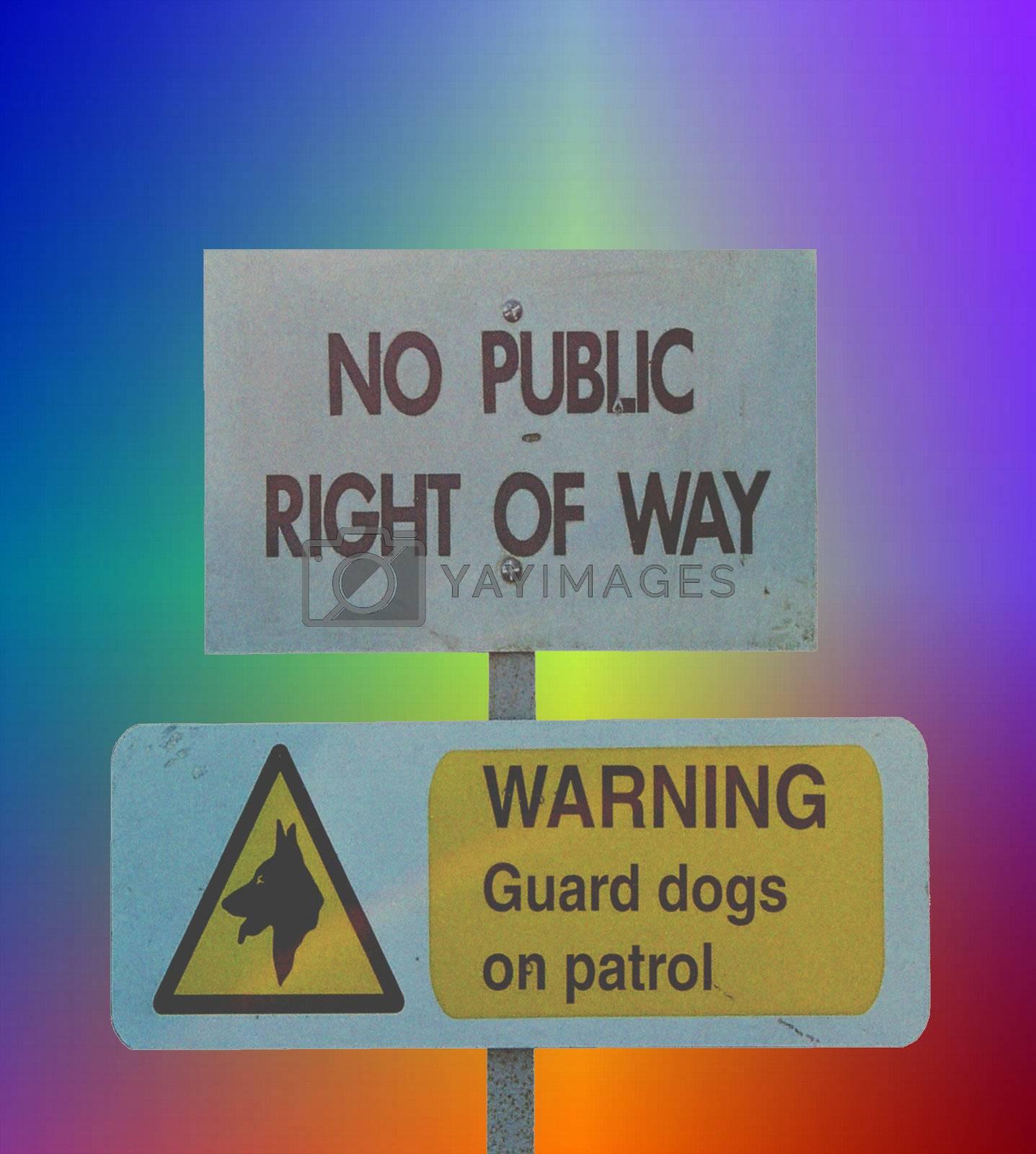 colorful warning sign