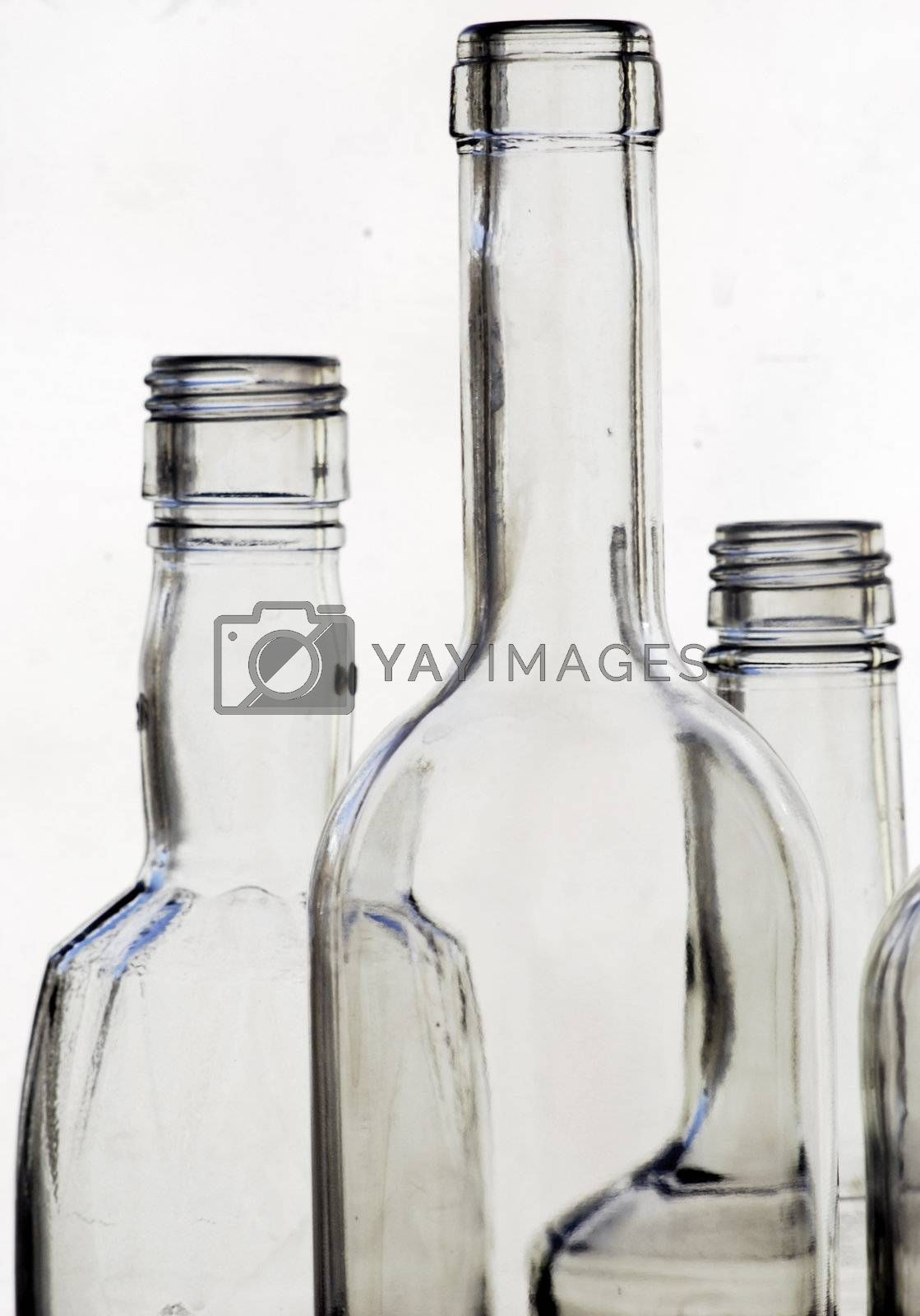 picture of glass bottles