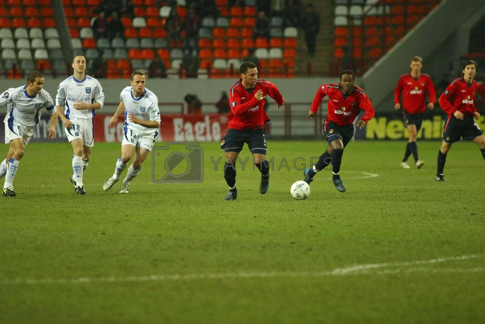 Football match CSKA-FRANCE in Moscow