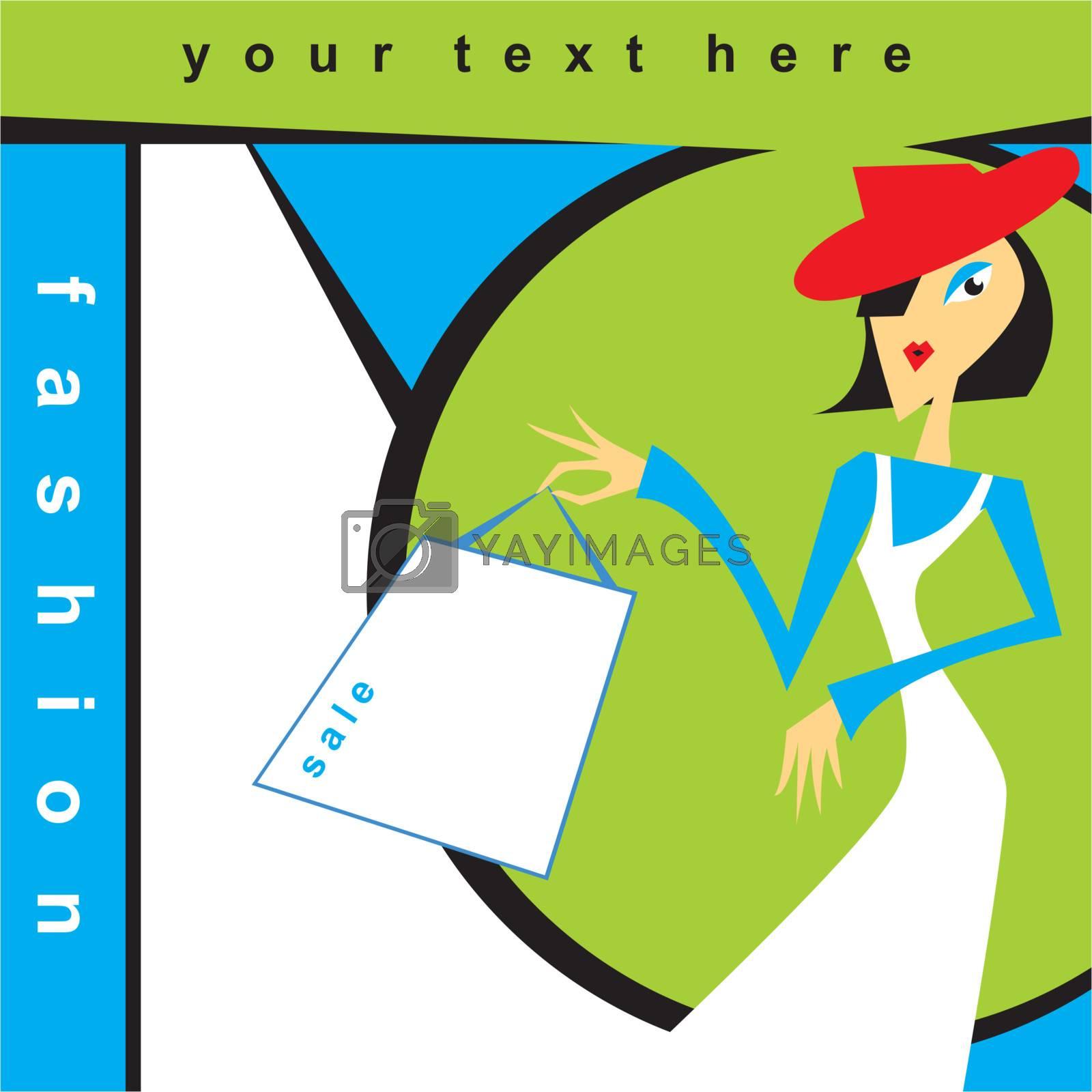 pop art style fashion flyer, vector illustration