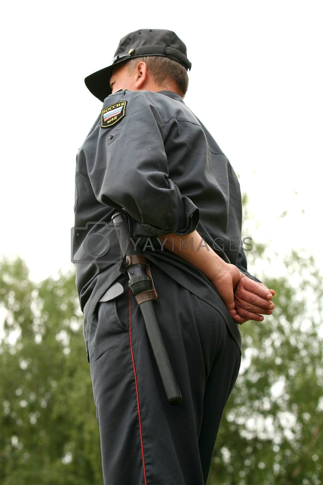 The Russian policeman on work