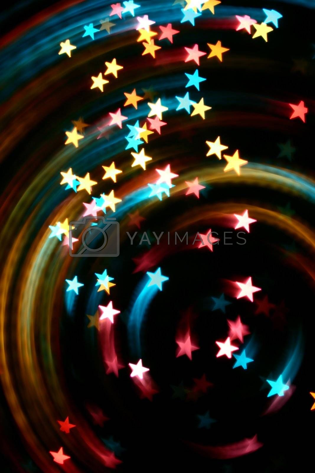 abstract disco  colored stars motion background