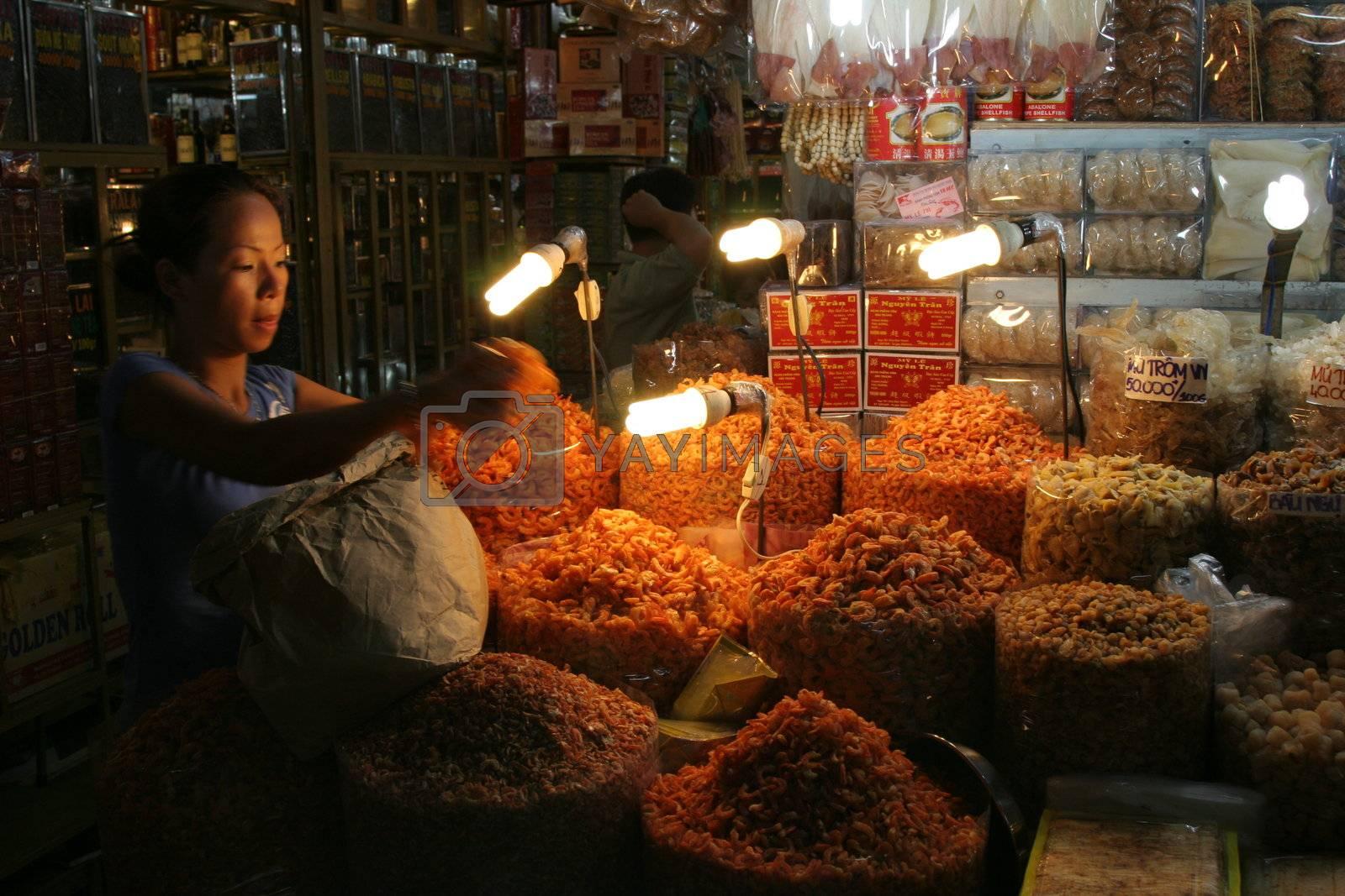 Indoor market in Saigon