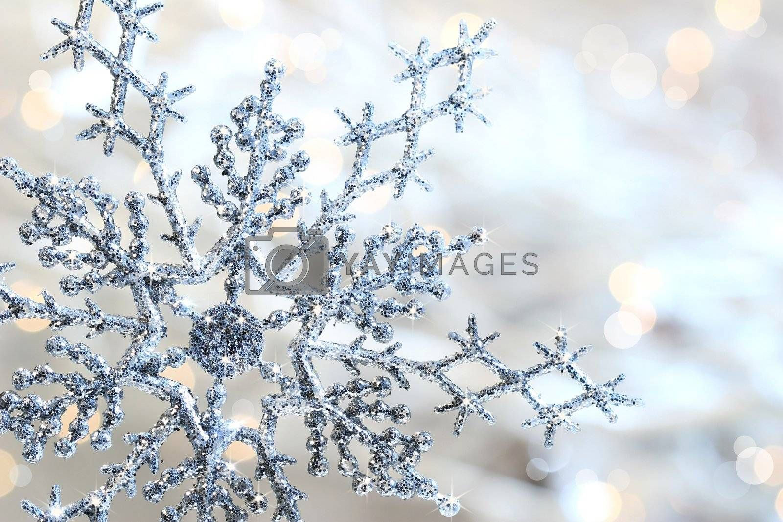 Silver blue snowflake  by Sandralise