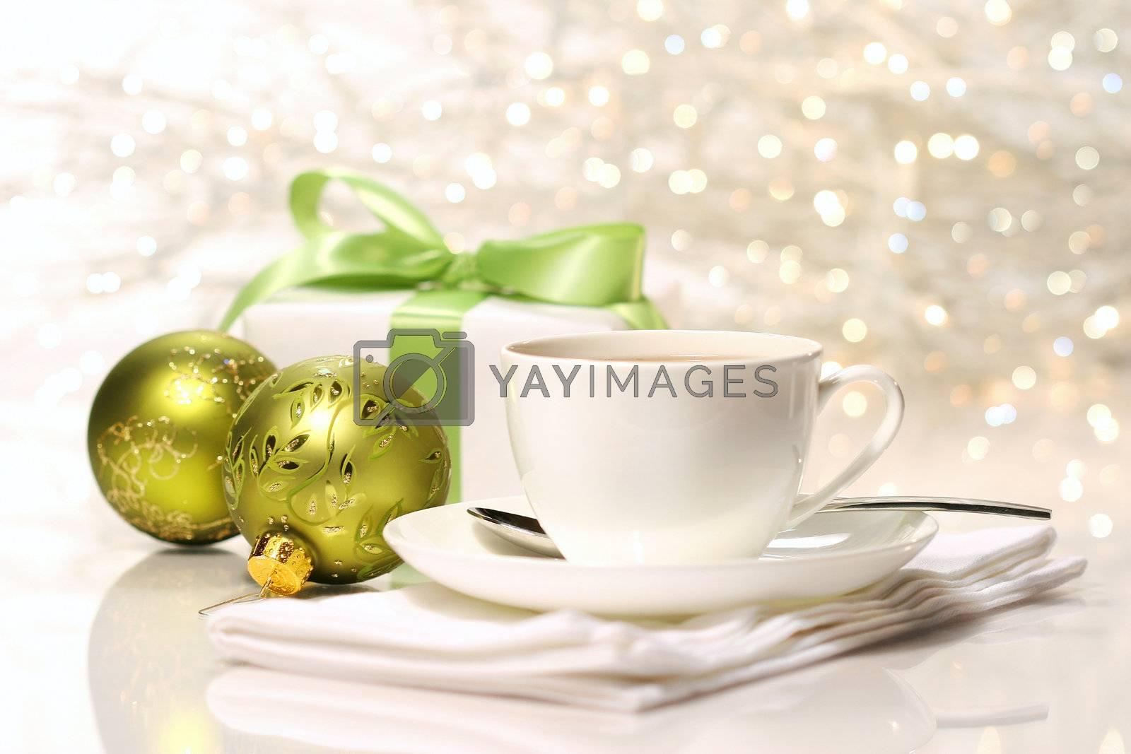 Tea break preparing for Christmas by Sandralise