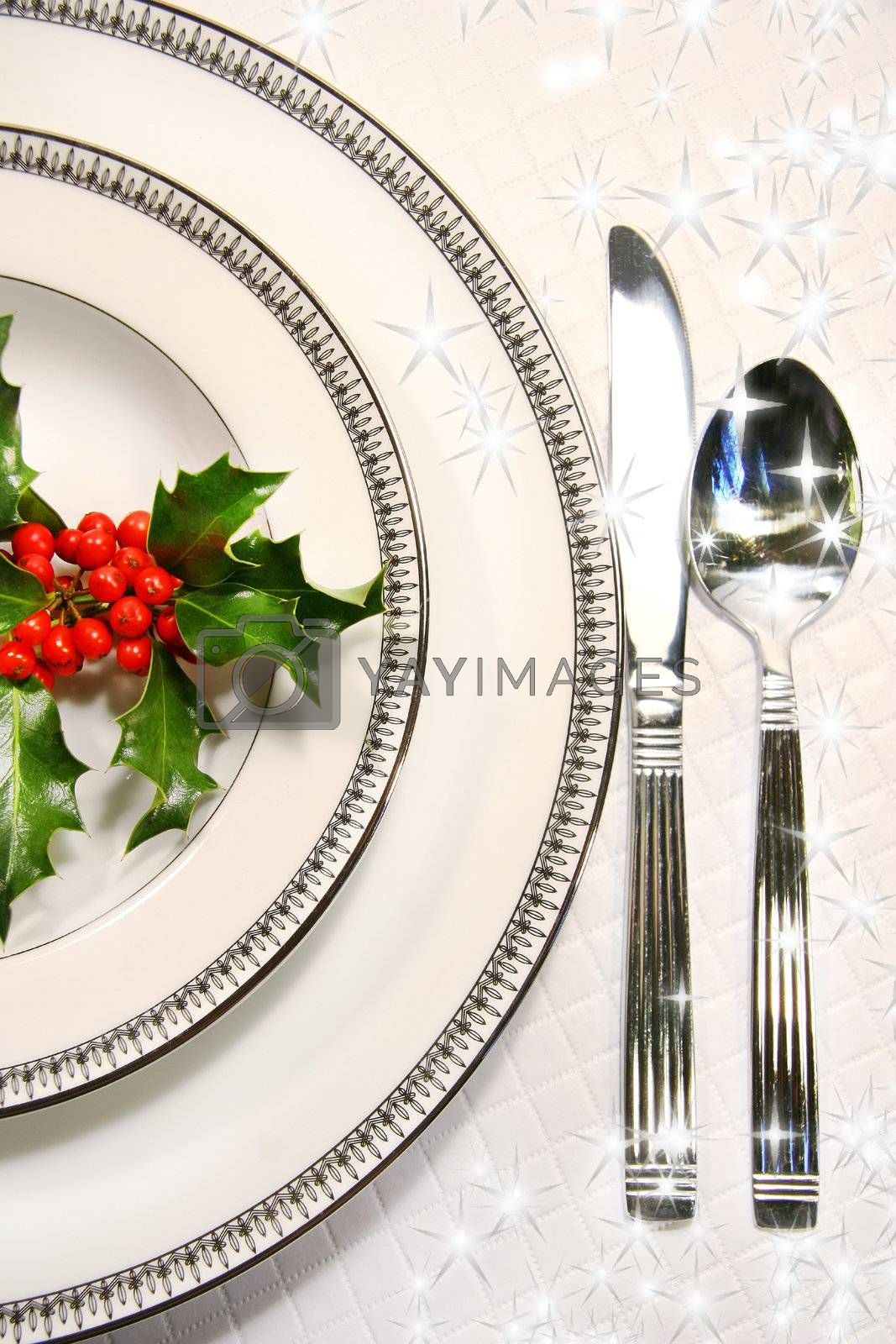 Silver plate setting  by Sandralise