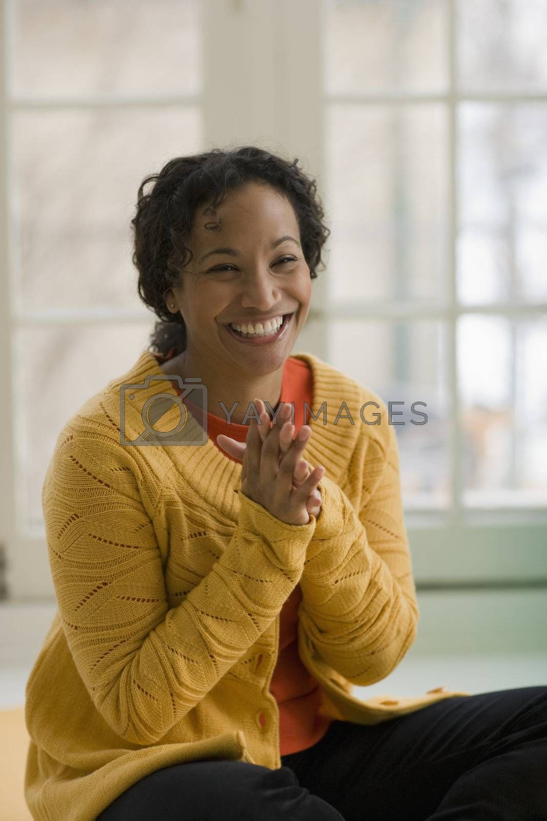 Portrait of a laughing beautiful young African American woman