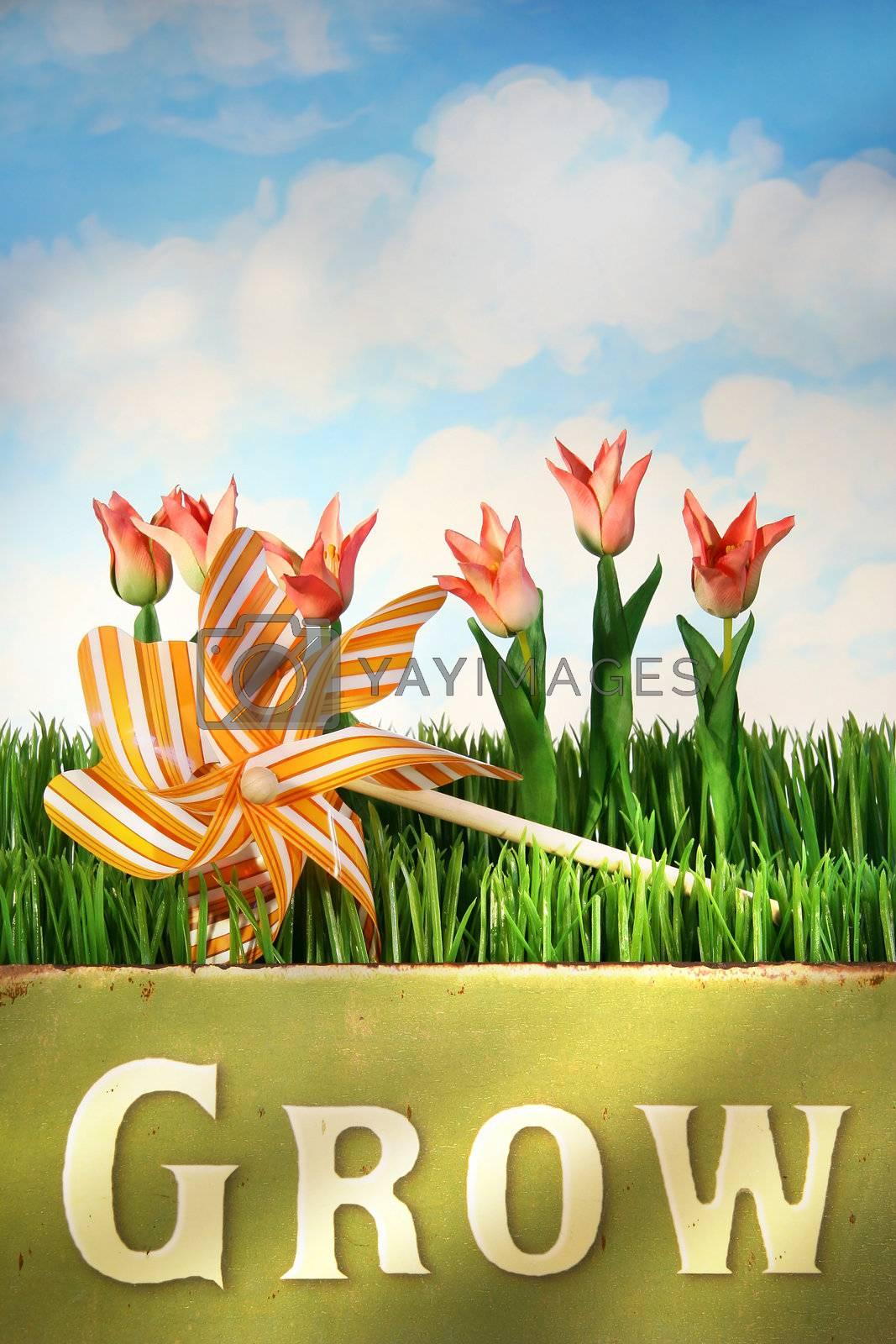 Springtime fun/ Concept theme for spring and summer designs