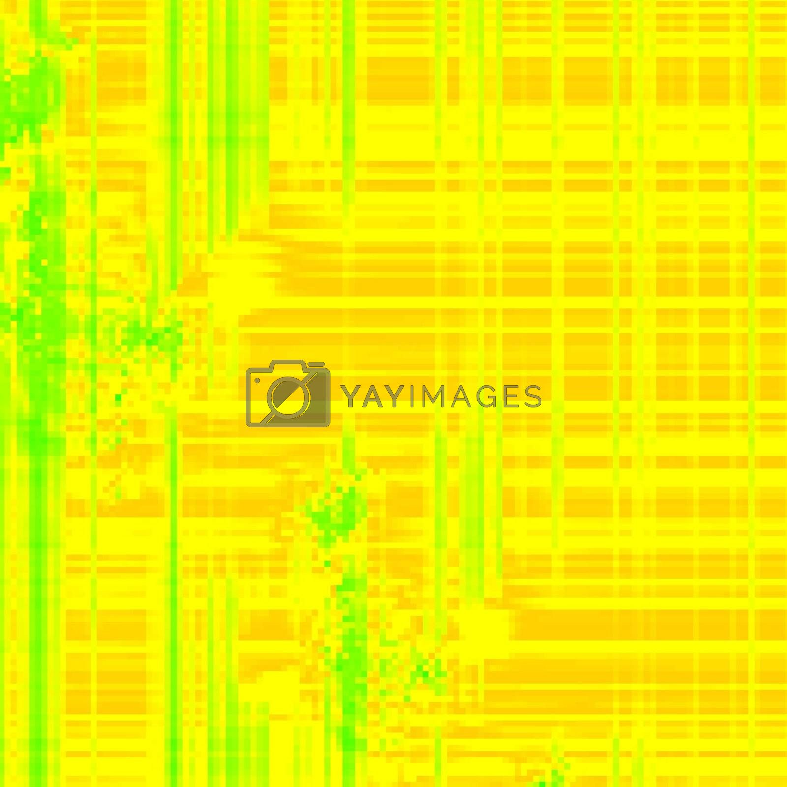 abstract fractal generated yellow background