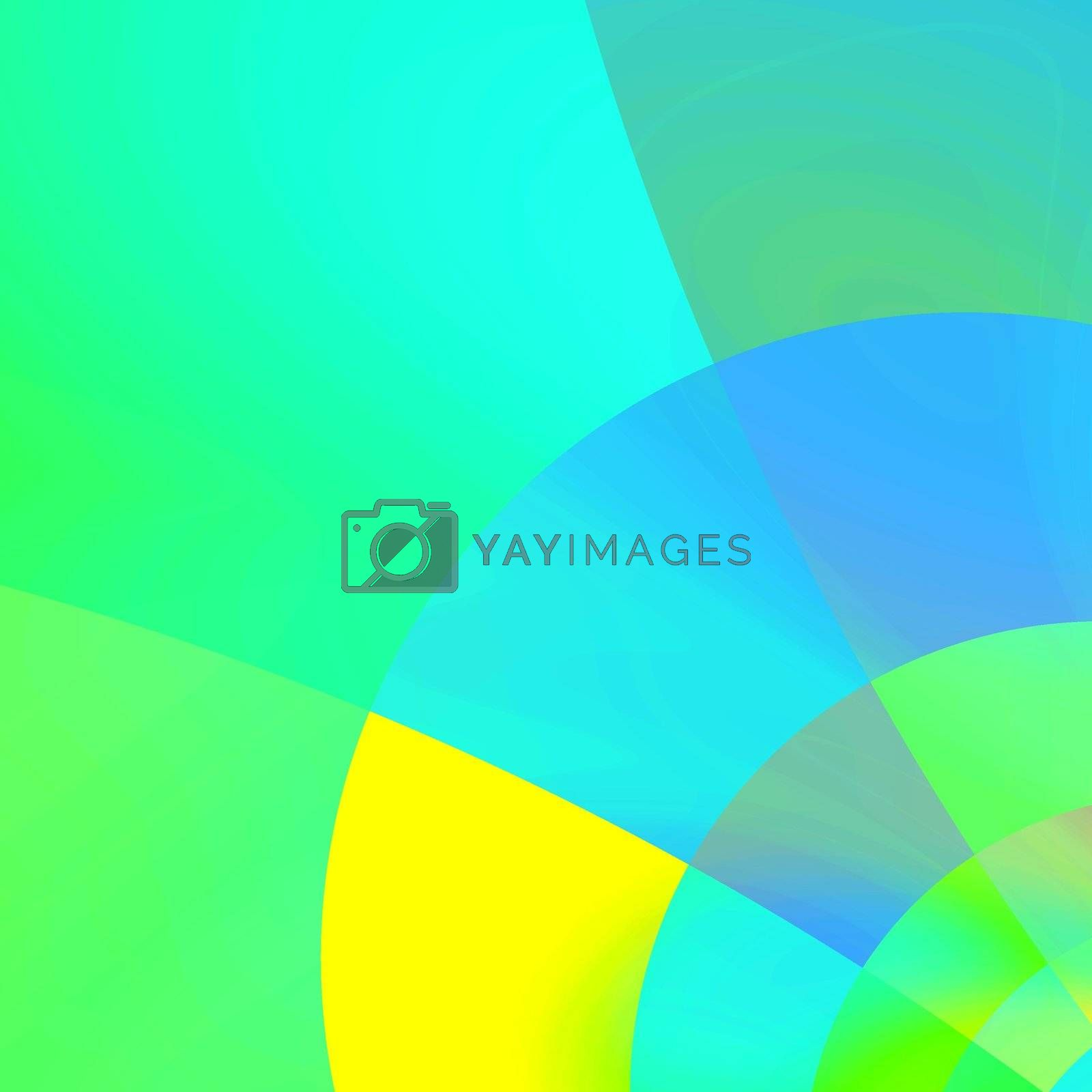 abstract blue corner background, fractal generated