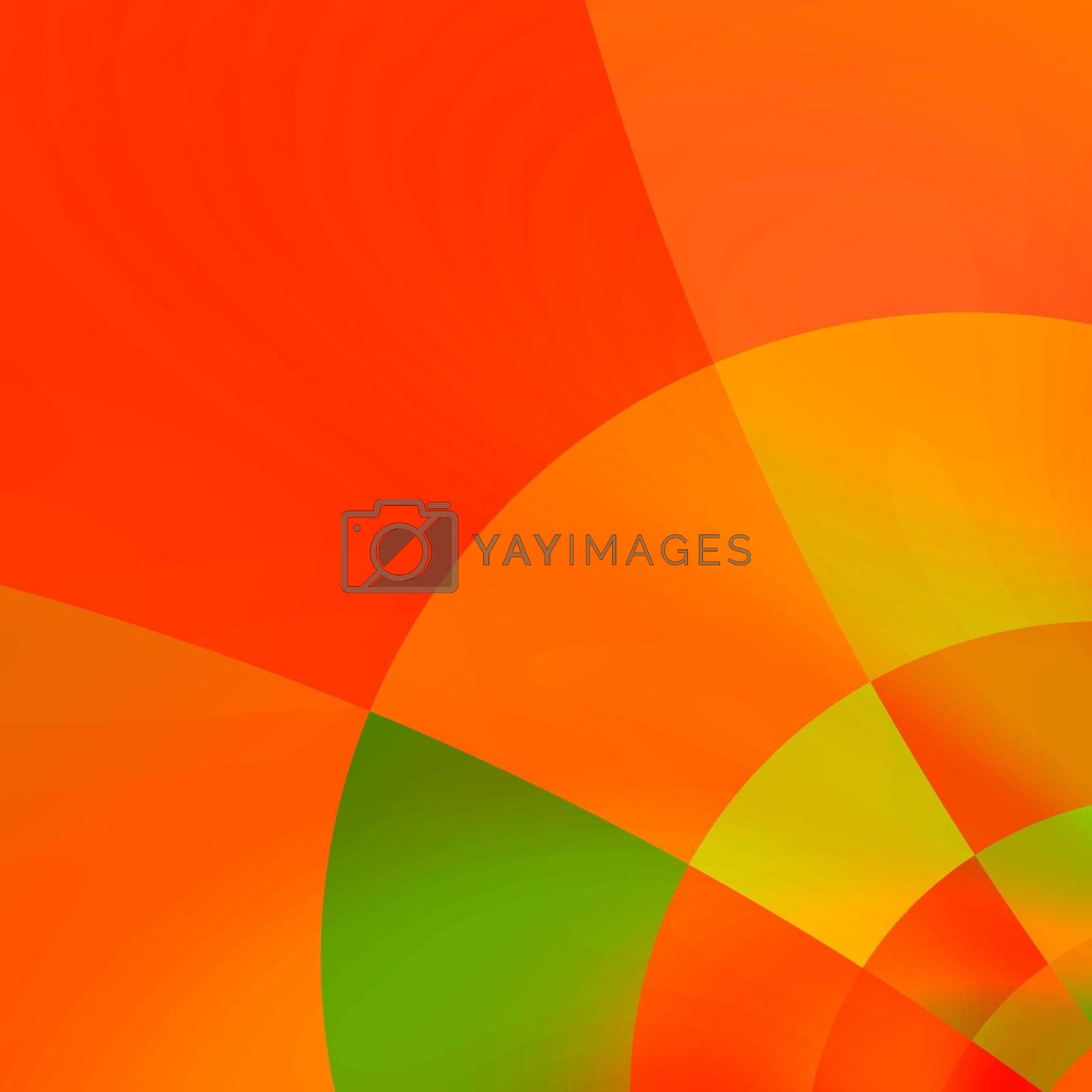 red abstract corner background, fractal generated
