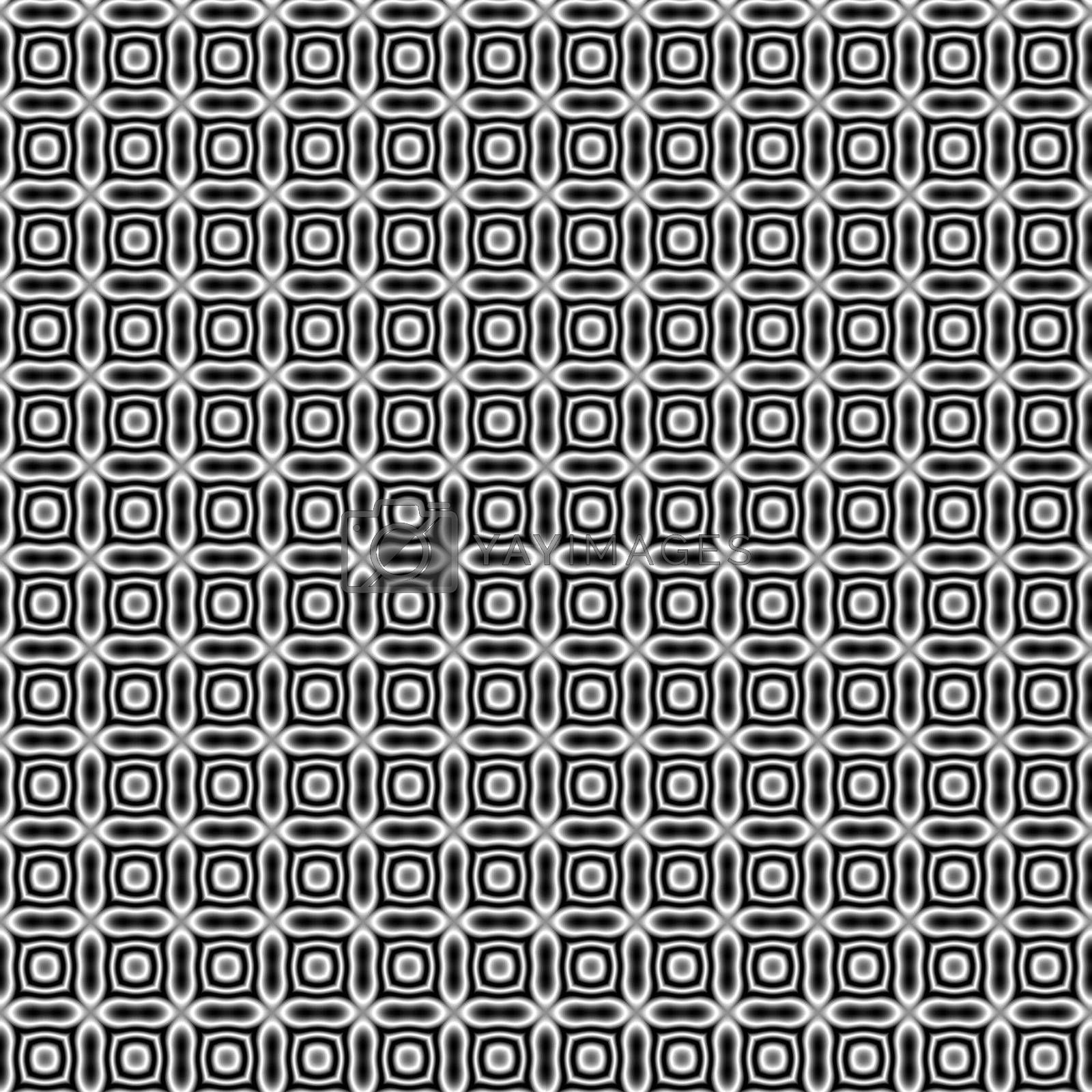 small fractal ornaments, forming a tiling black-and-white background