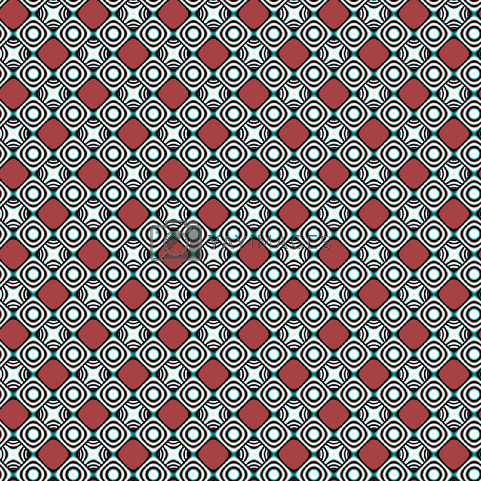 seamless tiling background with black-and-white ornaments on brown