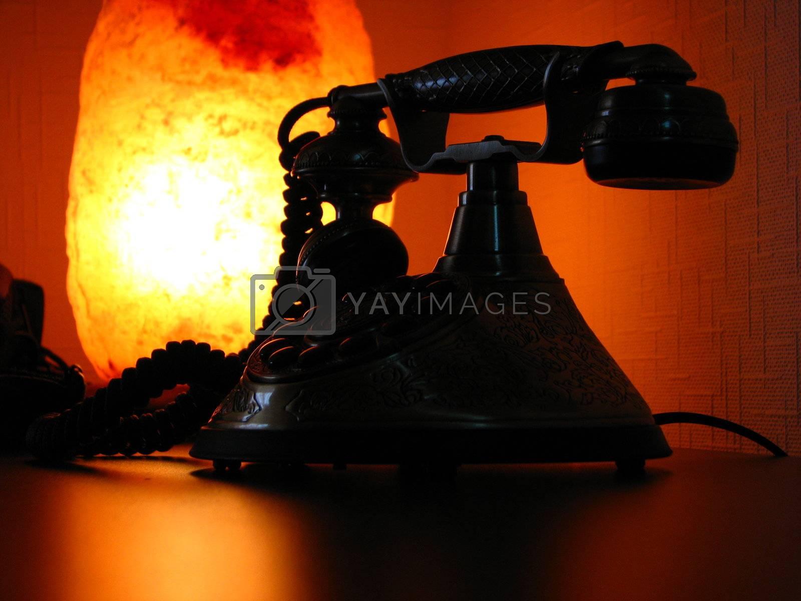 Retro phone and light