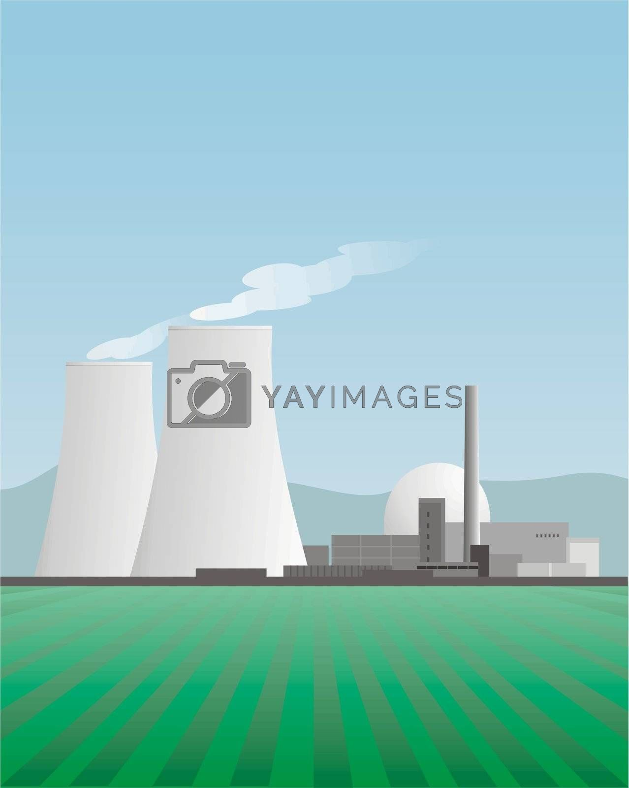 Nuclear Power Plant, Illustration, fictional motive, 2008