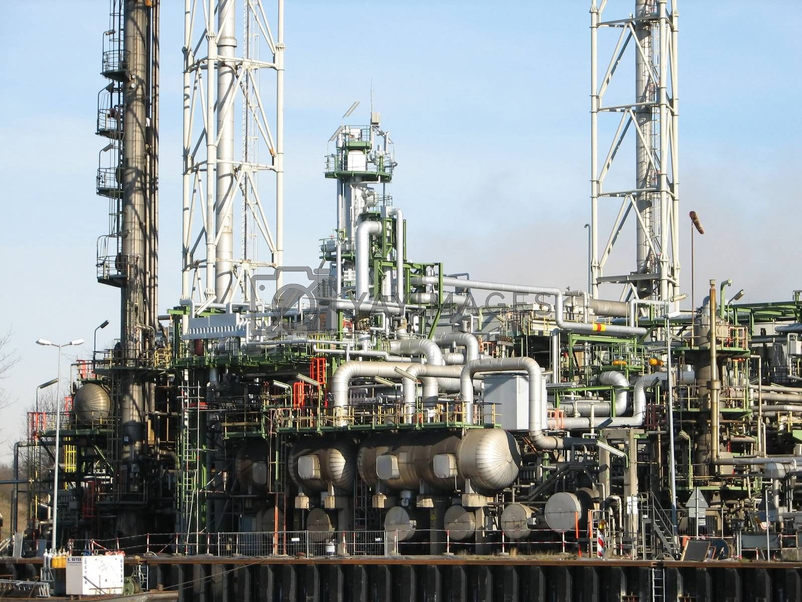 oil refinery, Lingen, Emsland, Germany, 2008
