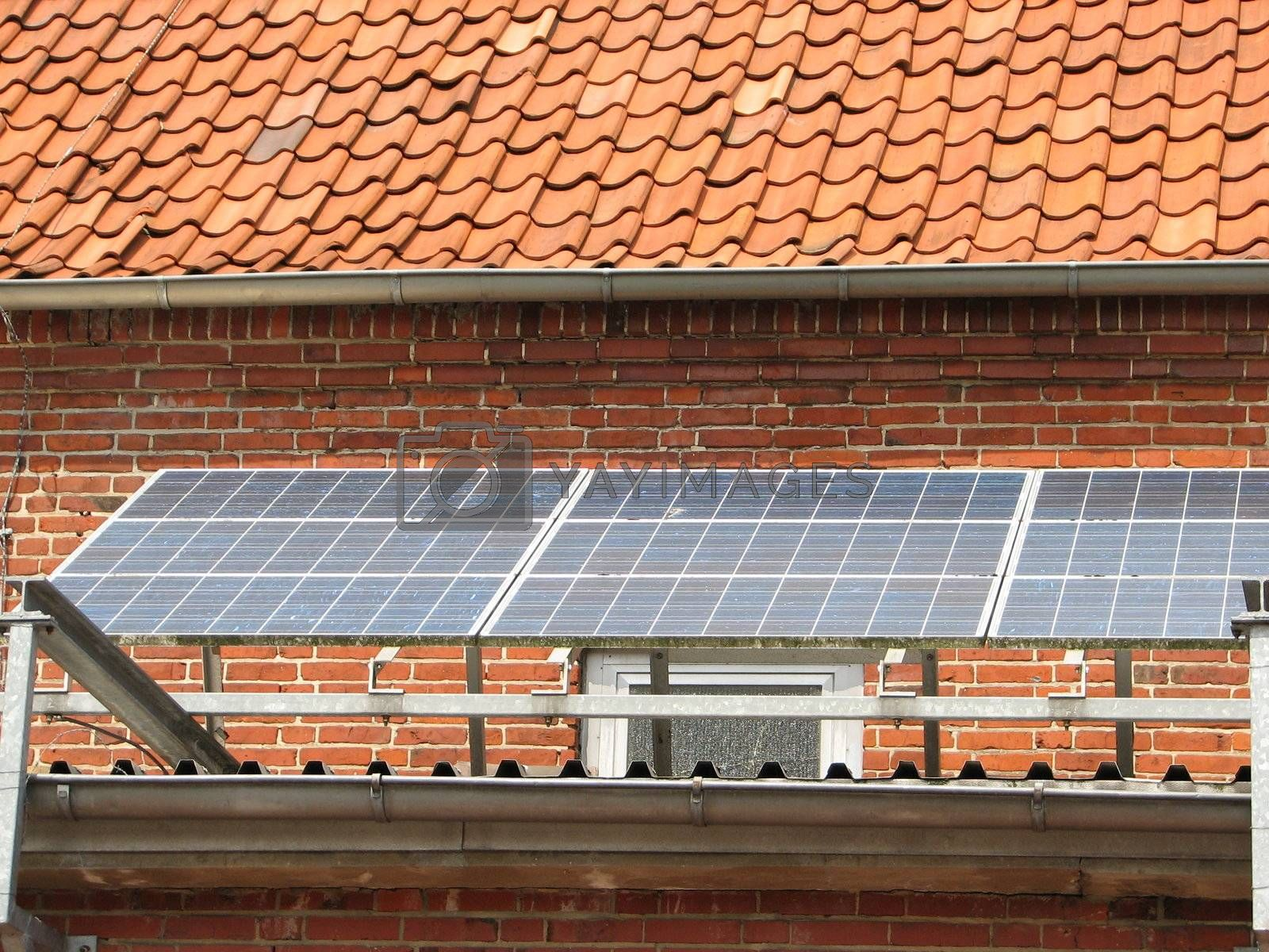 solar energy panels, roof, northern Germany, 2007