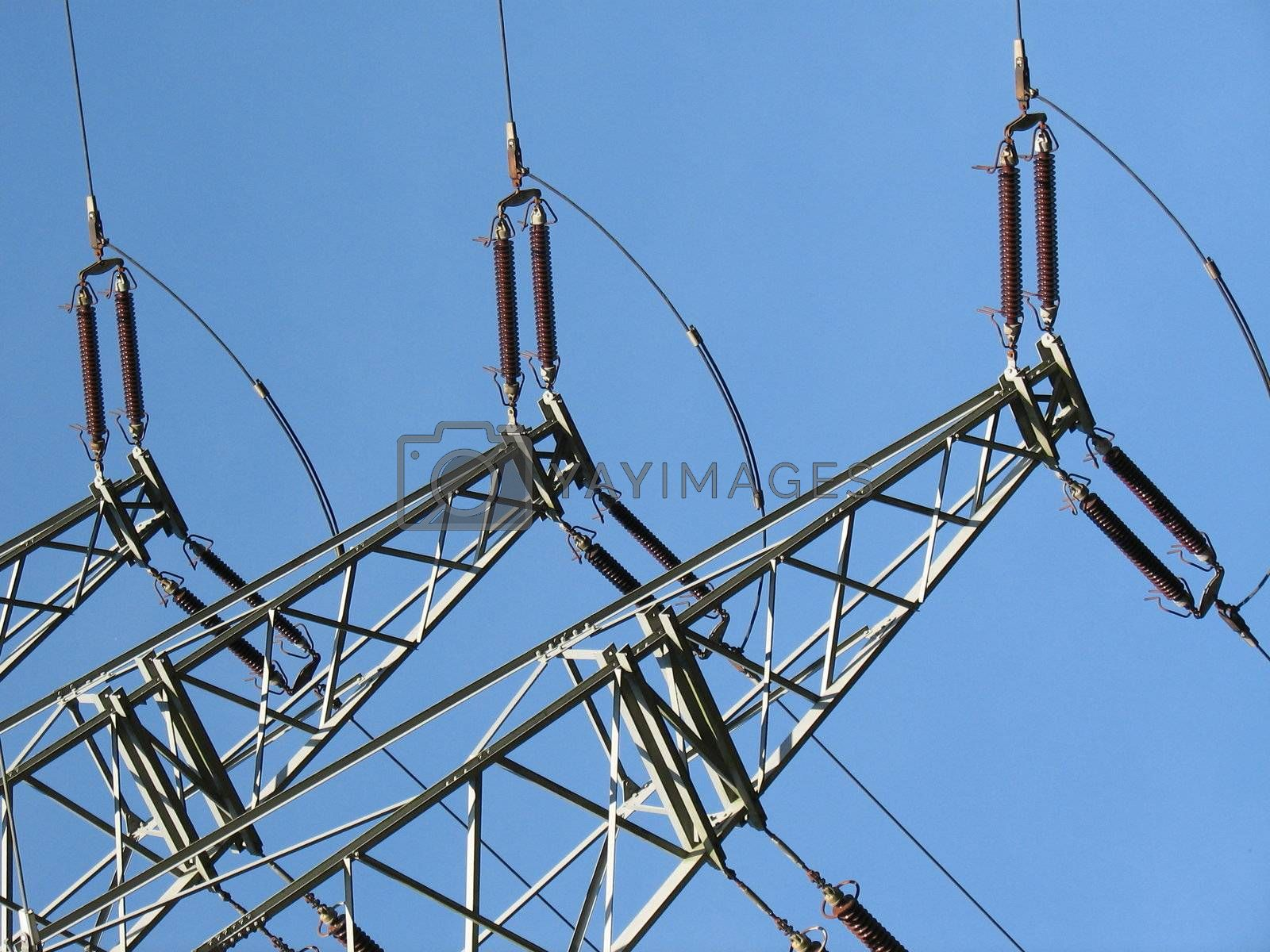 power supply lines, Emsland, Germany, 2008