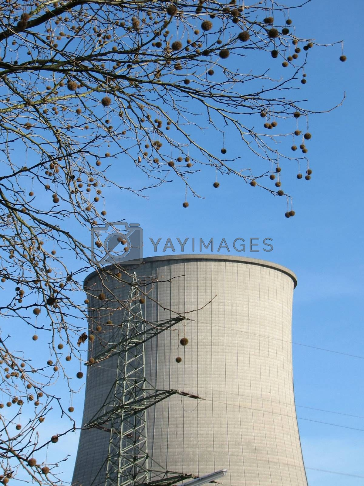 Chimneys, cooling towers, northern Germany, 2008