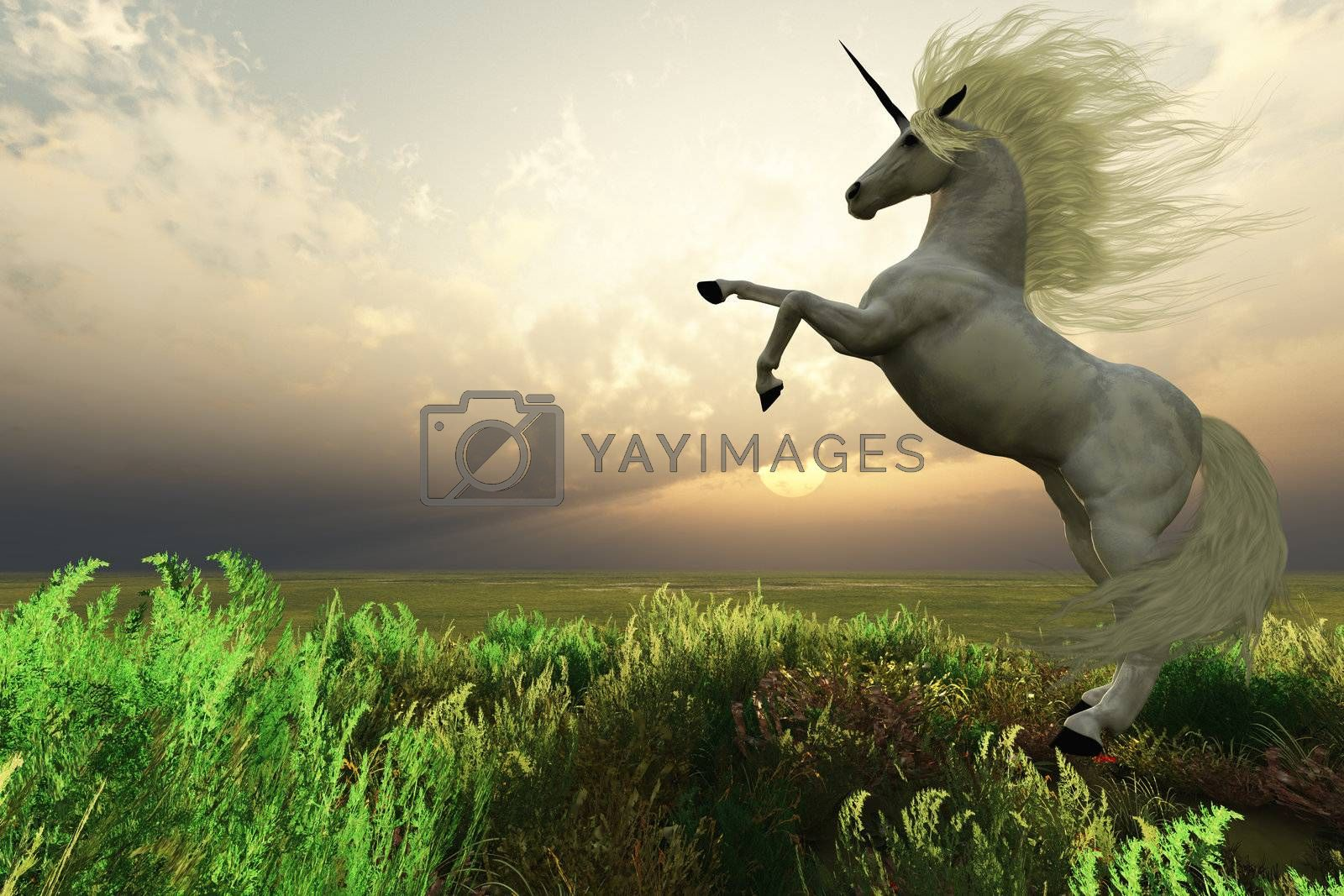Royalty free image of UNICORN STAG by Catmando