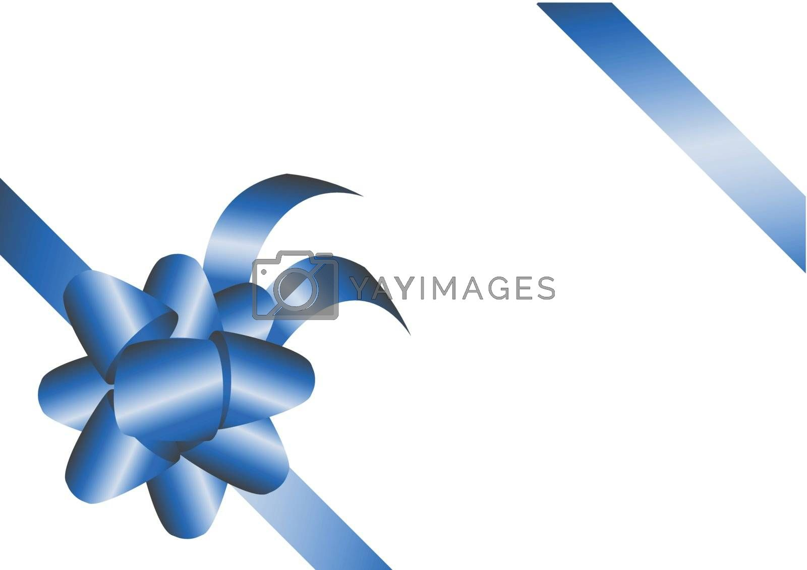Royalty free image of Blue Ribbons by ajn