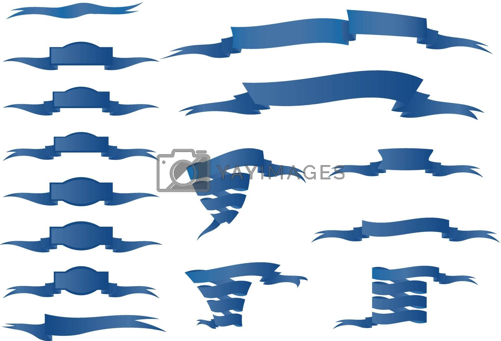 Collection of Blue Ribbons by ajn