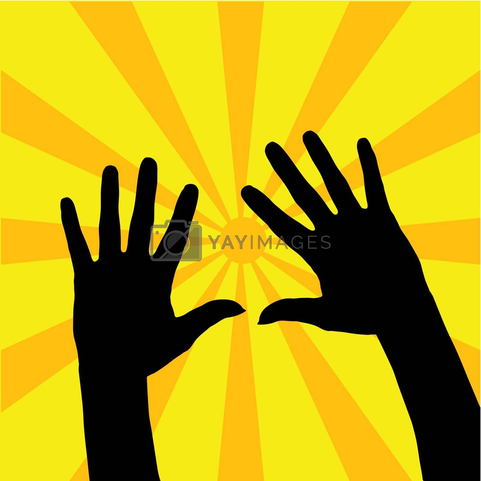 Royalty free image of Open Hands Illustration by ajn