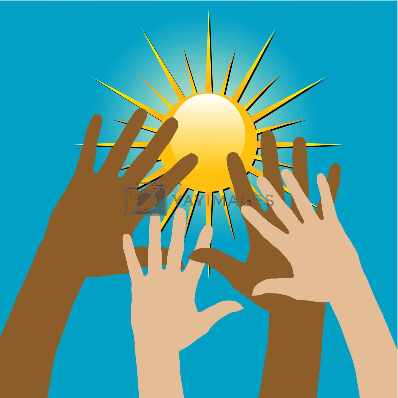 Royalty free image of Hands over the Sun by ajn