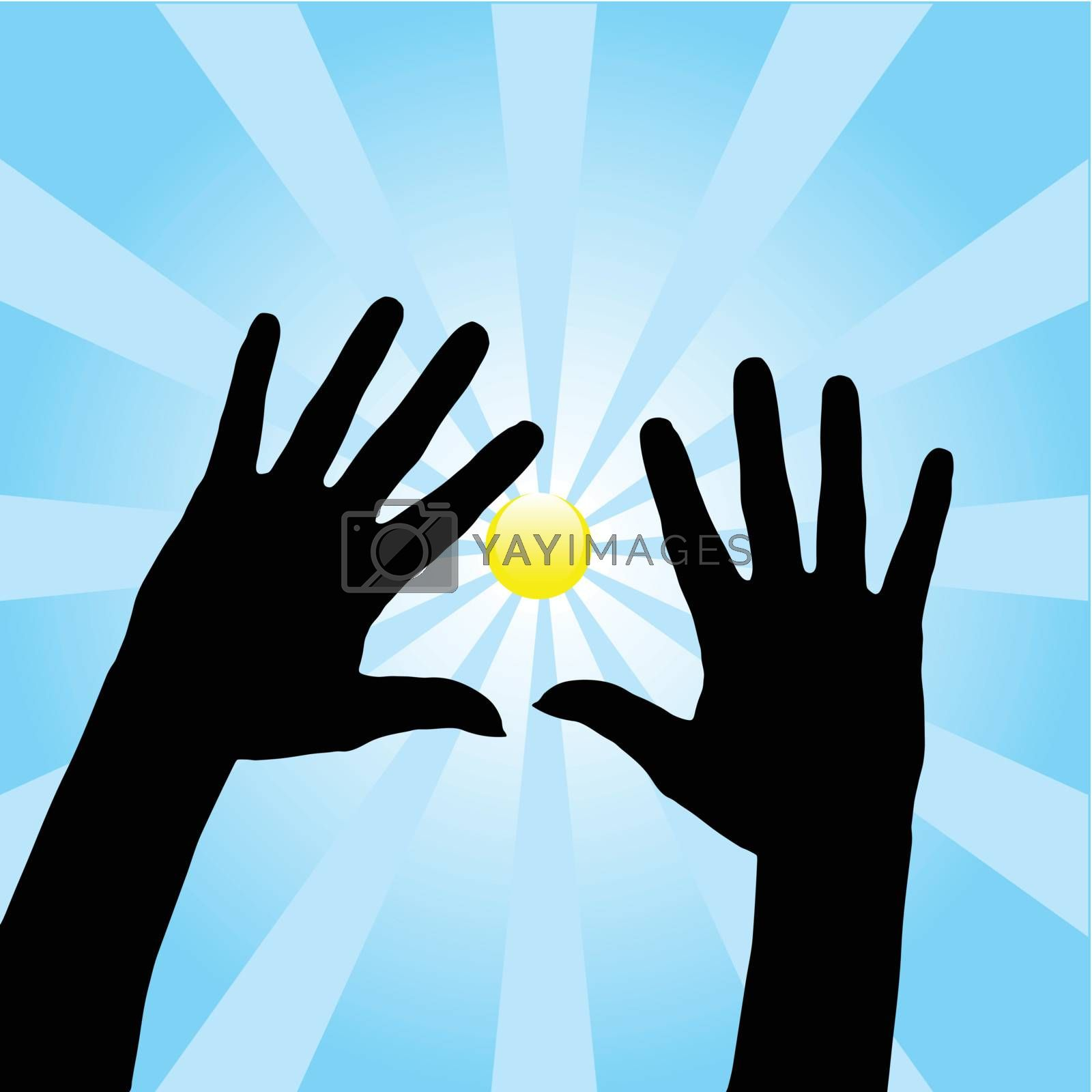 Royalty free image of Open Hands by ajn