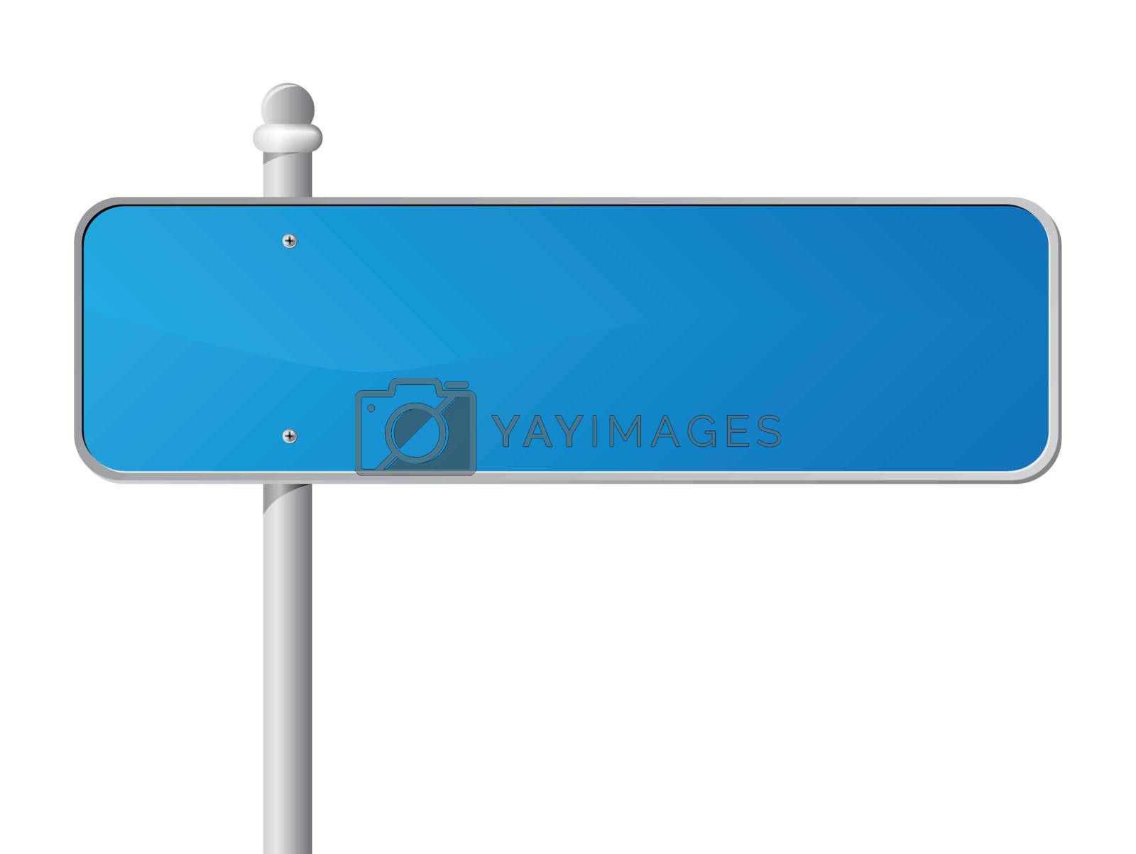Royalty free image of Blue Information Sign by ajn