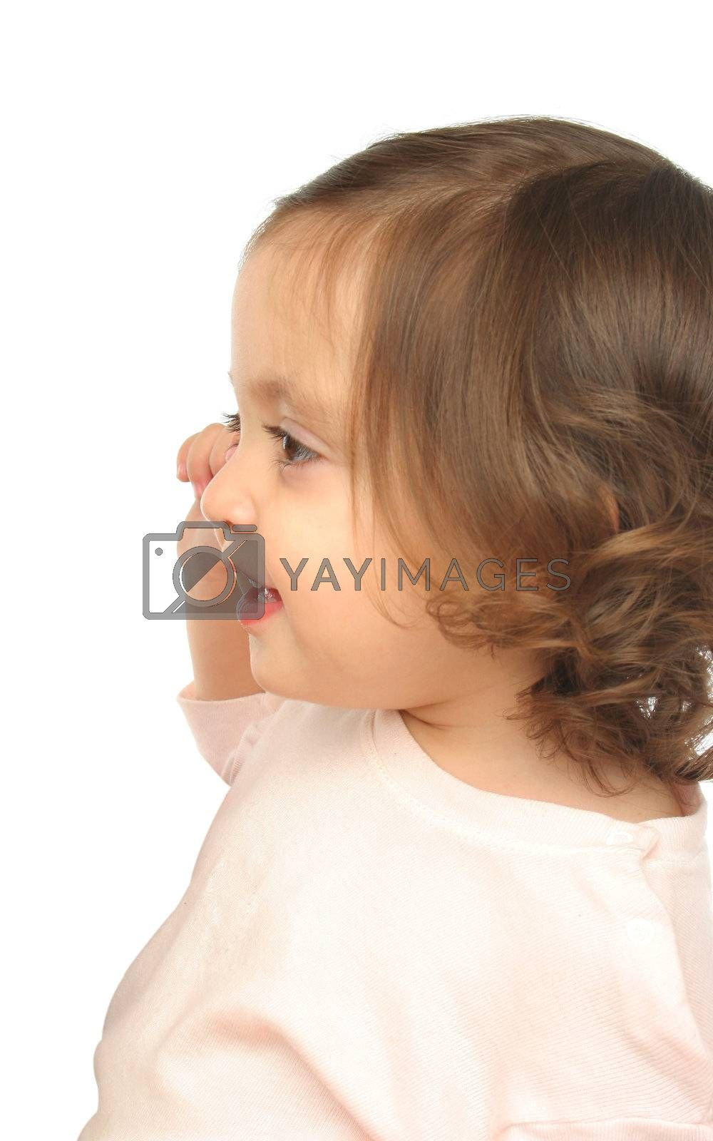 Little girl smiling  with a beautiful expression (portrait)