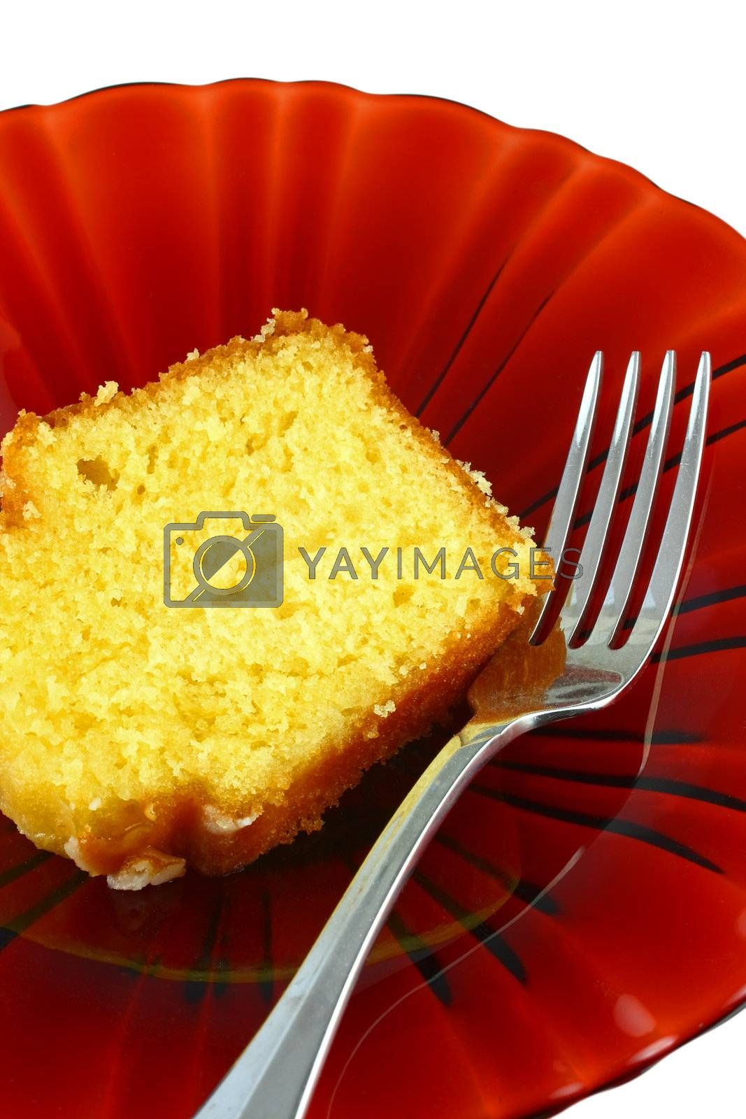 Slice of cake with fork