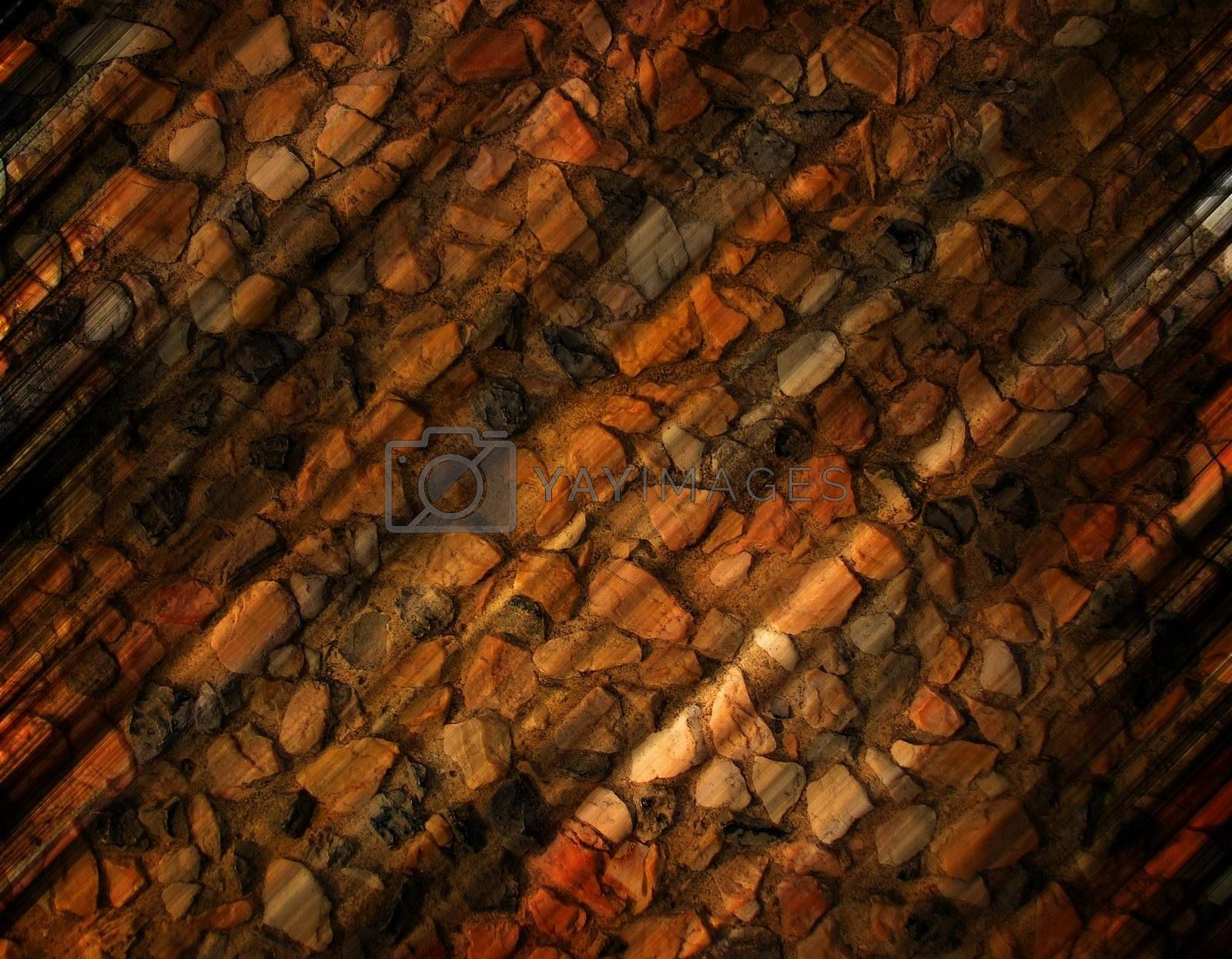 Blurred stones close up