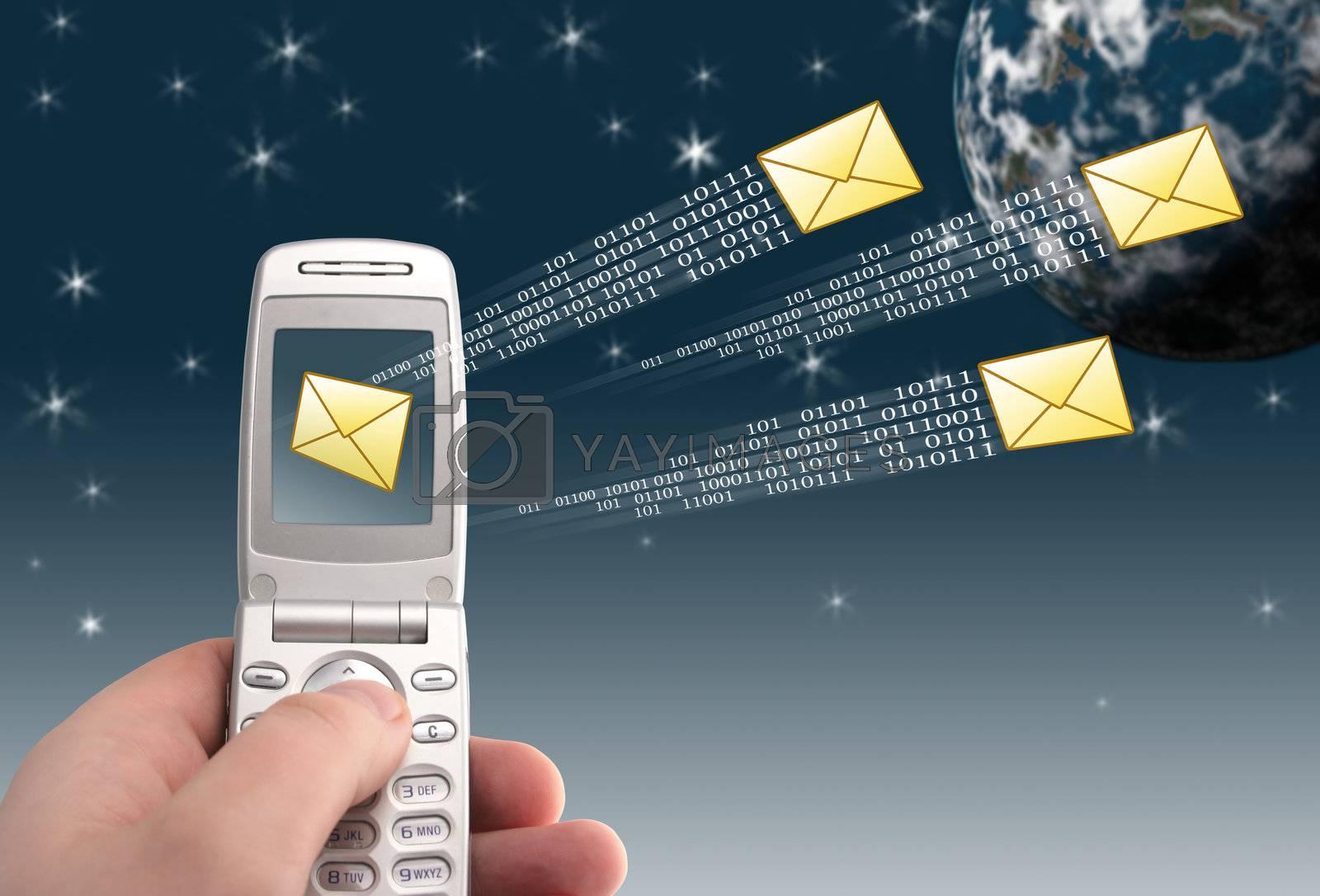 Message sending. Communication concept.