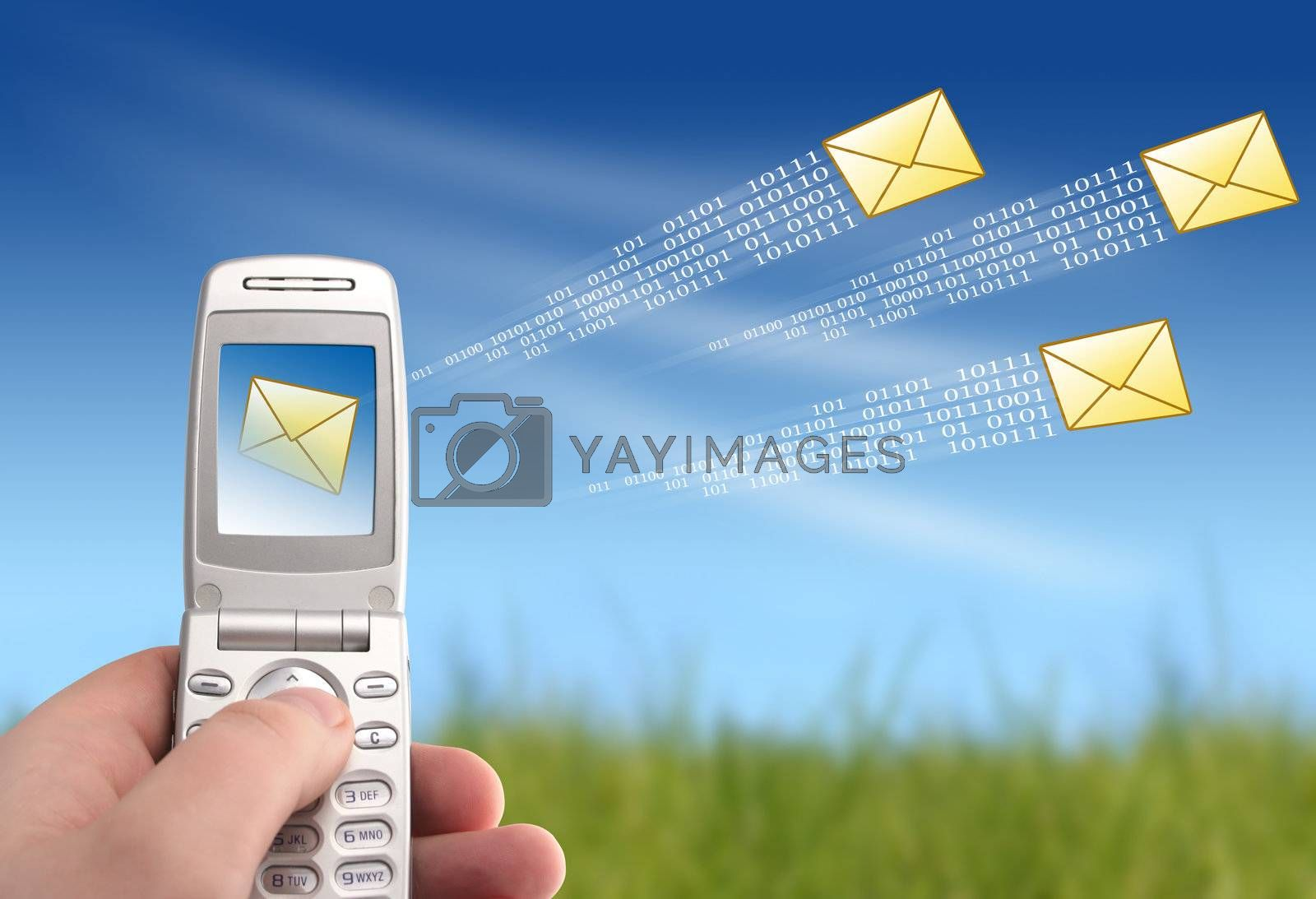 Mobile phone in hand. Communication concept.
