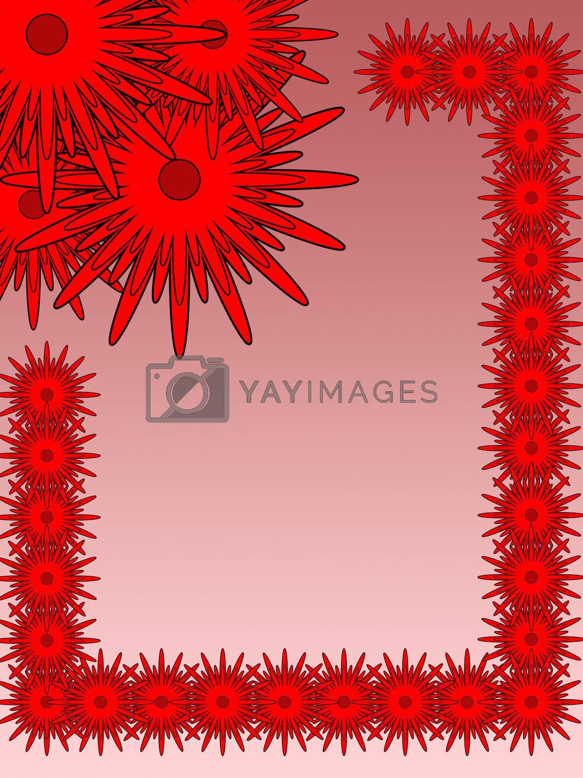 red FLOVERS BACKGROUND by Kljaksa79