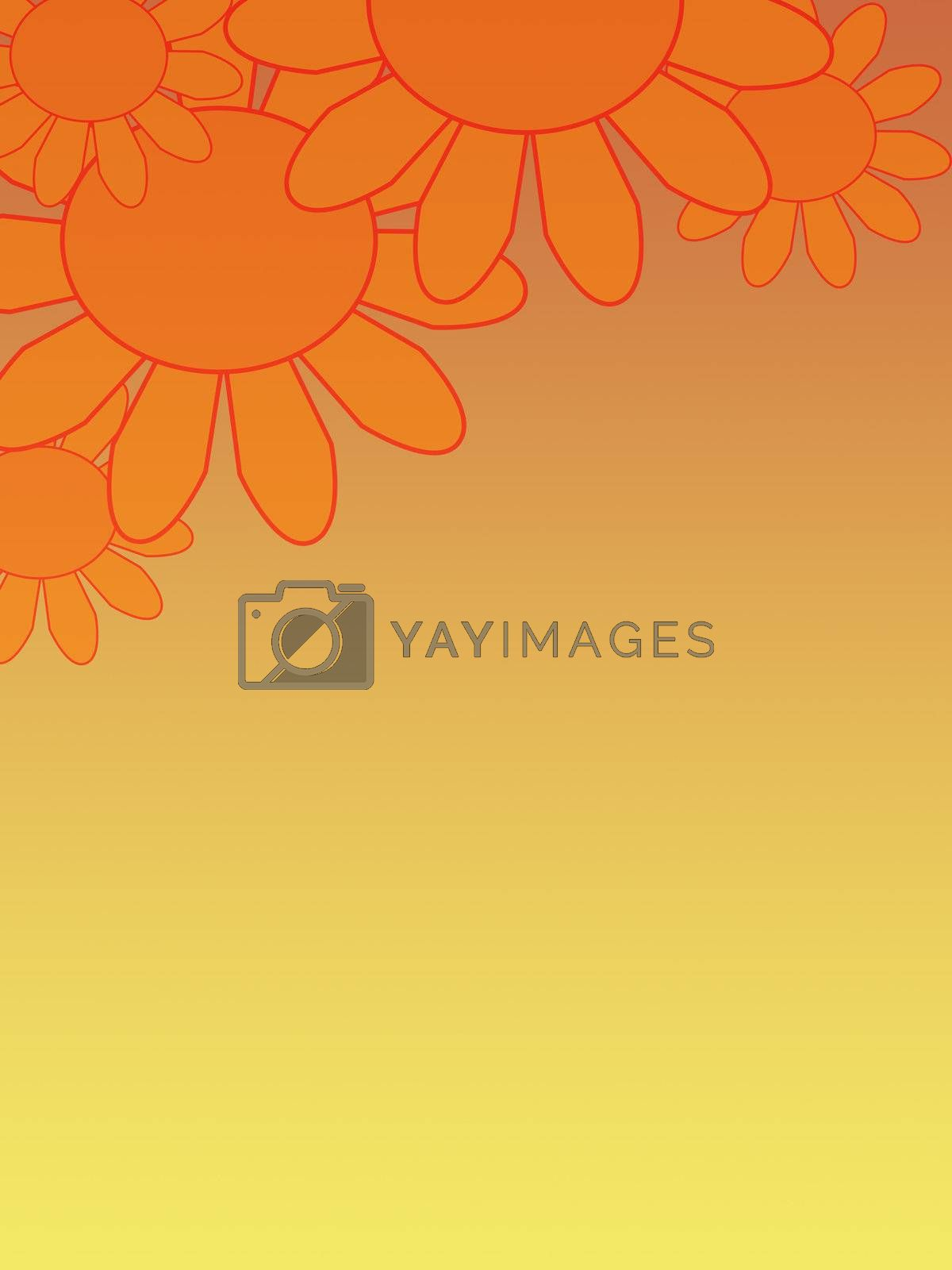 Yellow flowers on yellow фонею the Background flowers. Spring flowers. A card