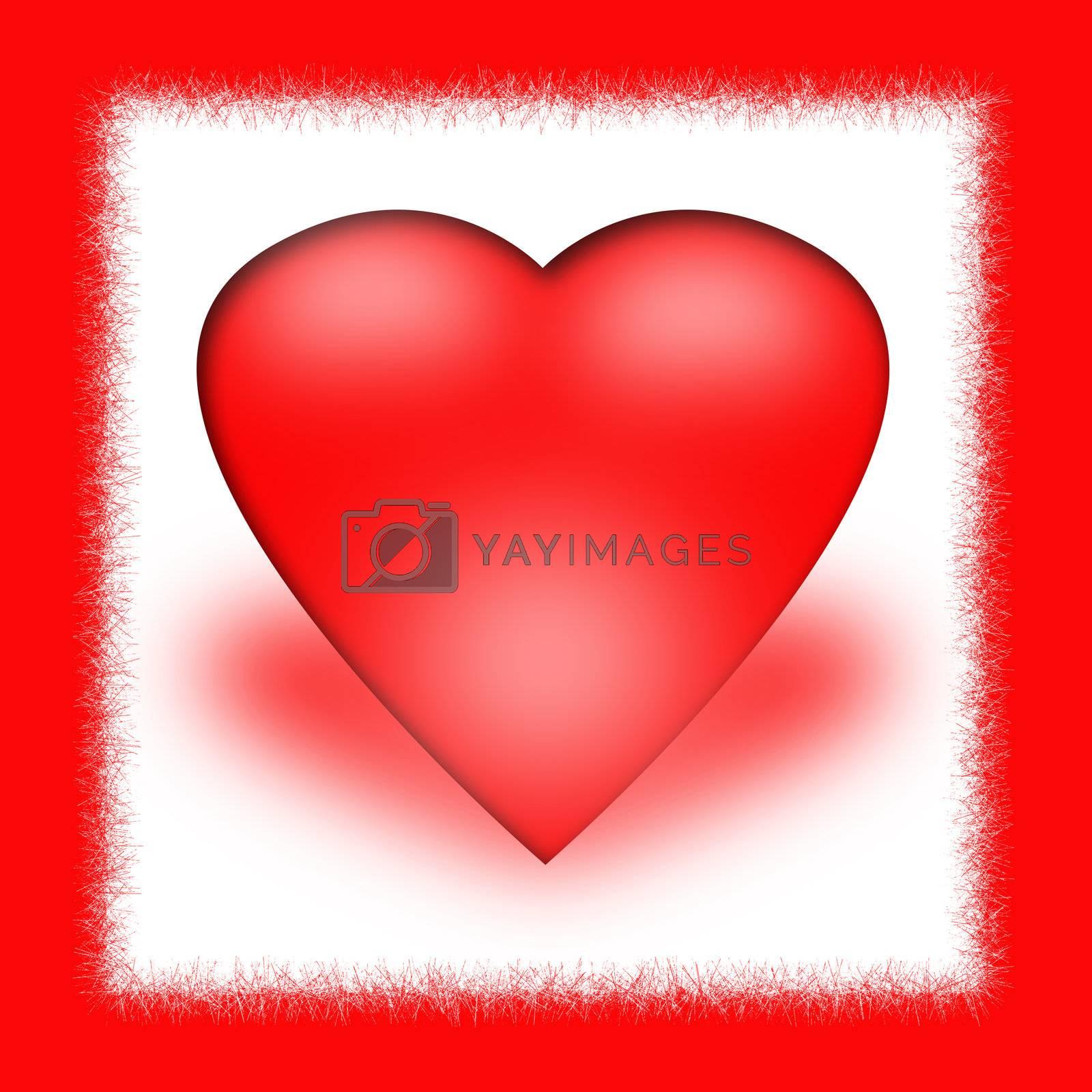 "valentine heart with the word ""love"". valentine day"