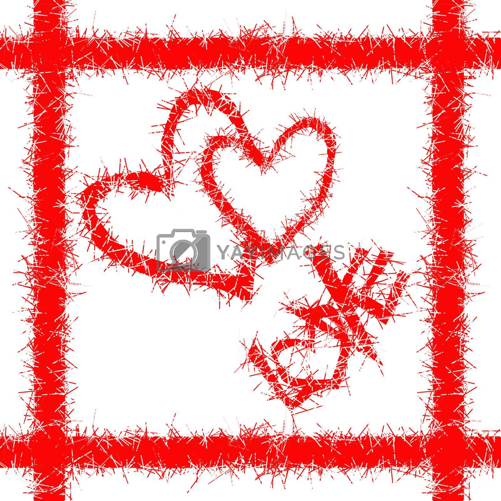 """red valentine heart with the word """"love"""". valentine day"""